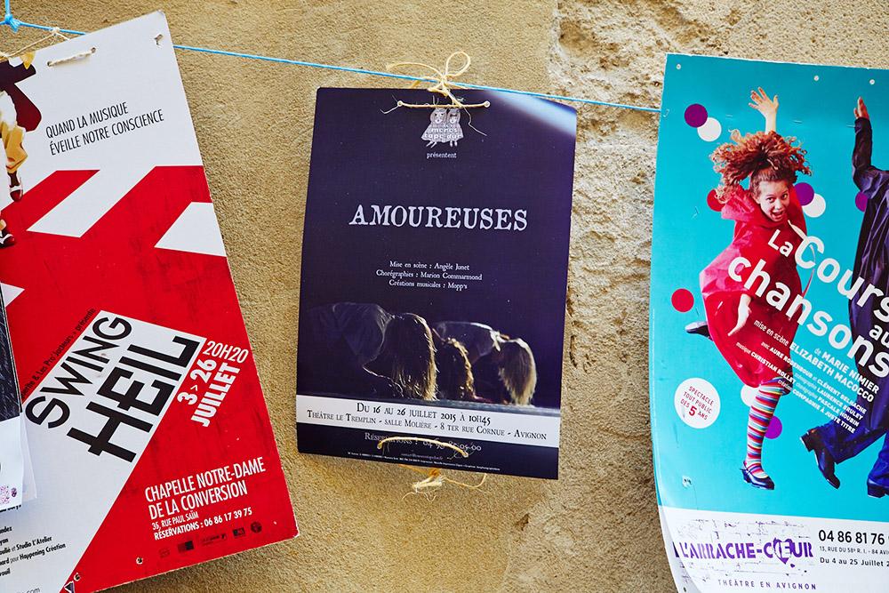 Amoureuses Avignon festival 2015