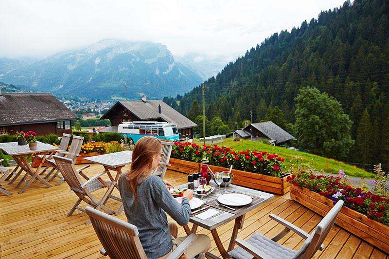 Terrasse hotel du Pillon
