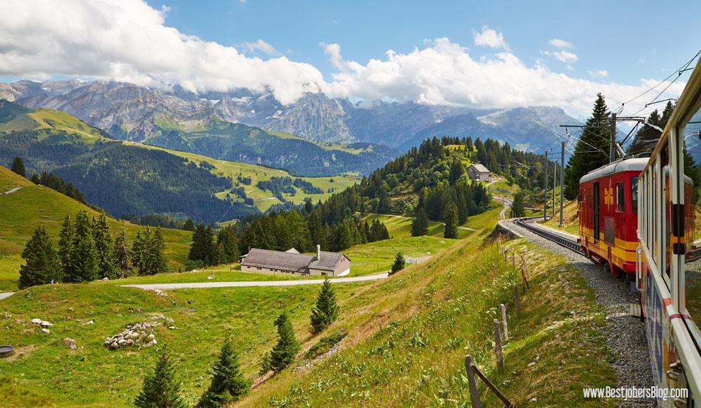 Train col de bretaye Suisse