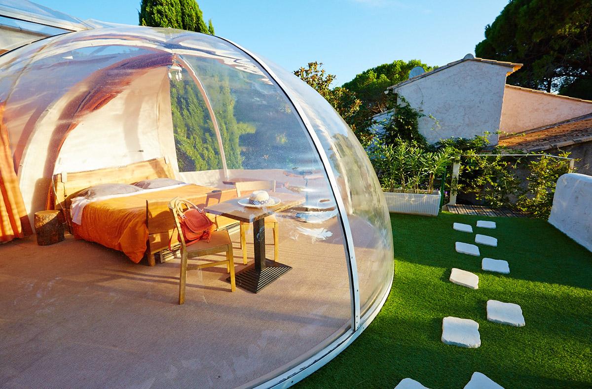 Dormir dans une bulle sud