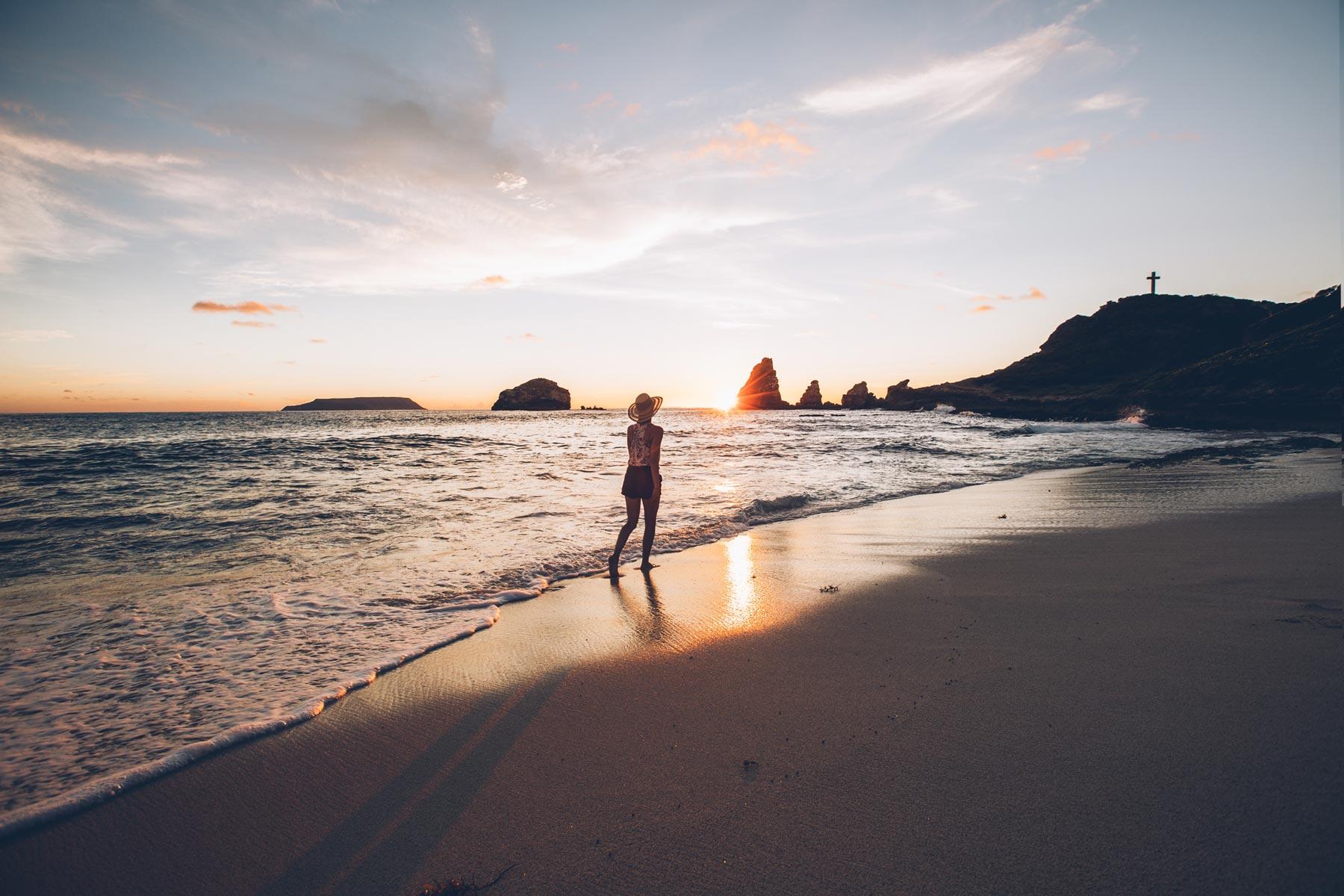 Lever de soleil, Pointe des Chateaux, Guadeloupe