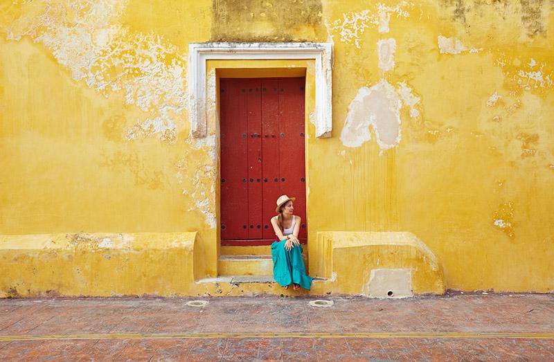 Campeche ville colorée Mexique