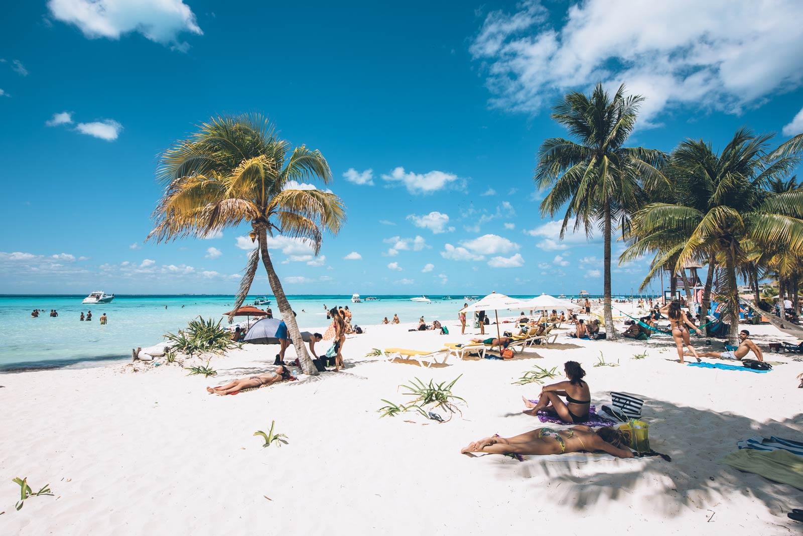 Playa Norte, Sable Blanc Isla Mujeres, Mexique