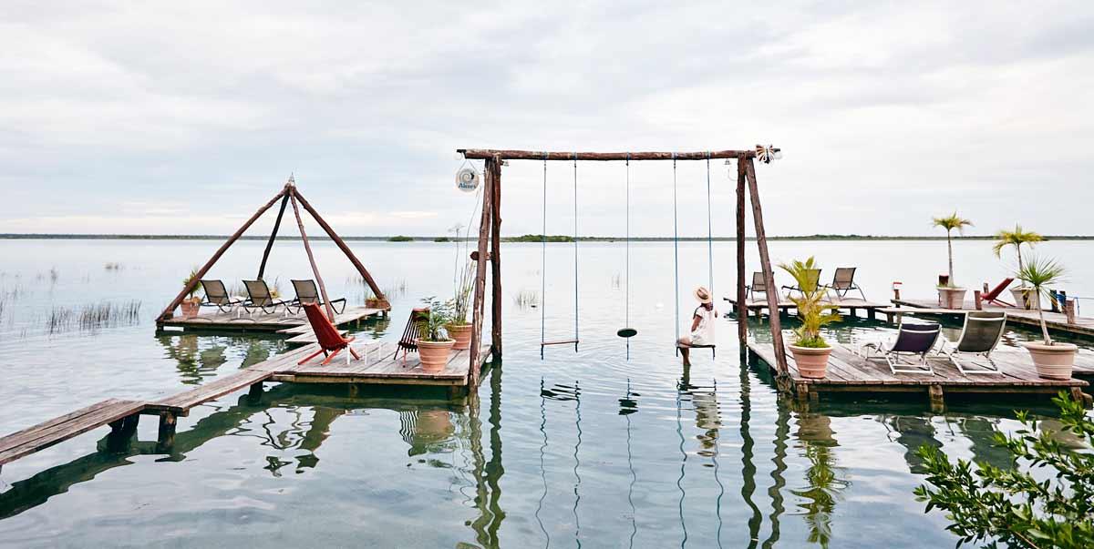 Bacalar Balancoire sur l'eau Los Aluxes