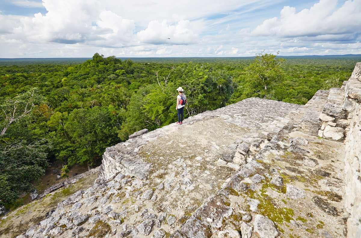 Calakmul-Pyramide-Vue