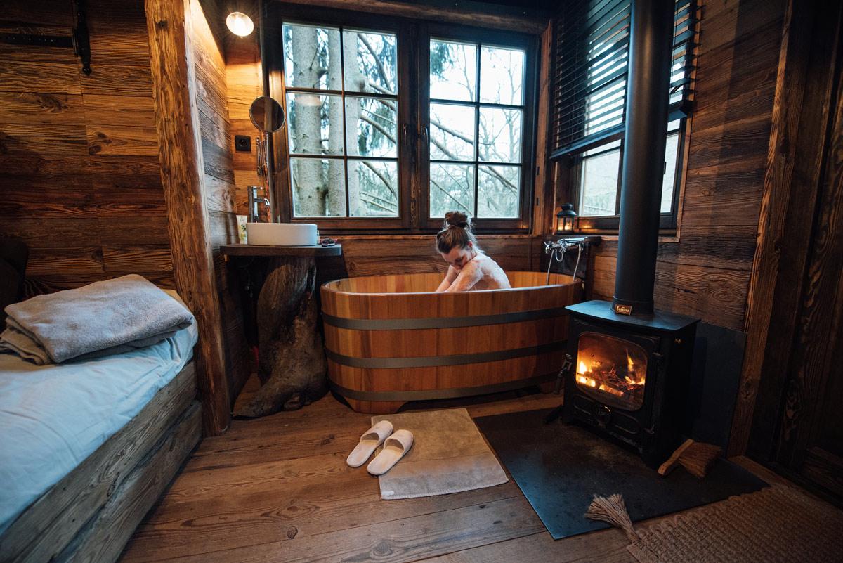 dormir dans une cabane en belgique