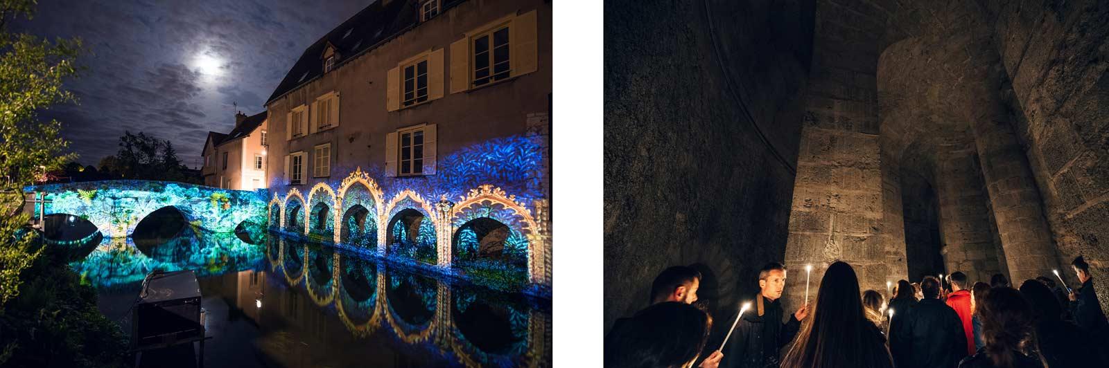 Chartres, visiter la crypte à la bougie