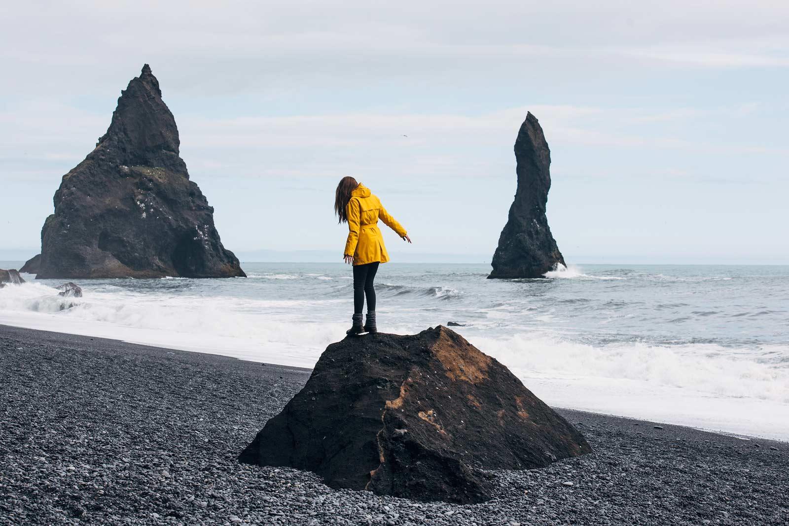 Plage sable noir islande