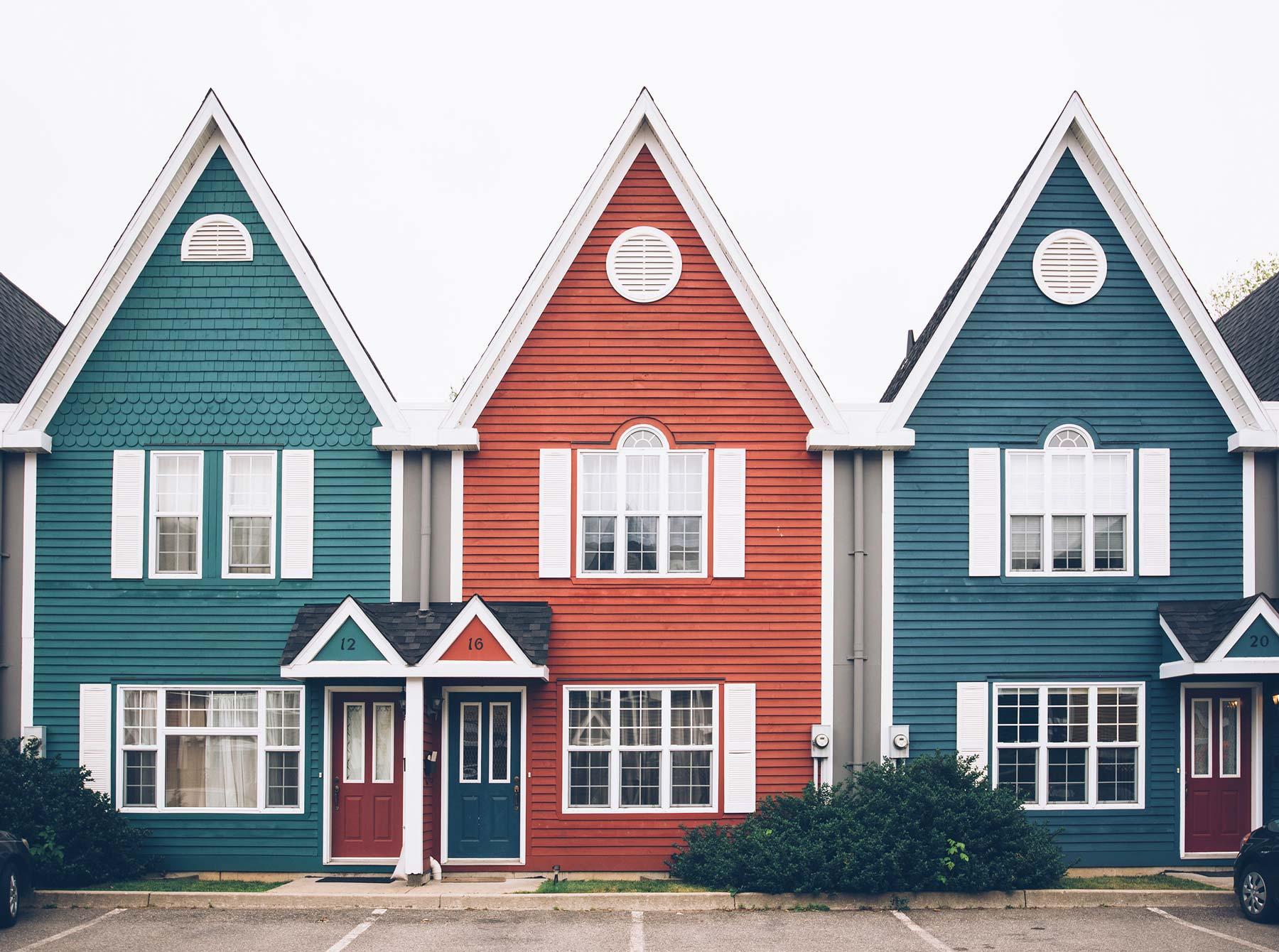 Petites Maisons colorées, Fredericton, NB, Canada