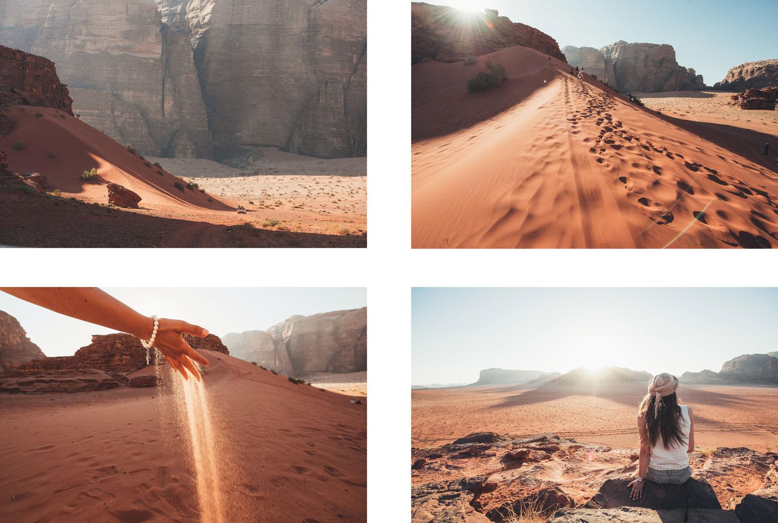 dune de sable rouge jordanie