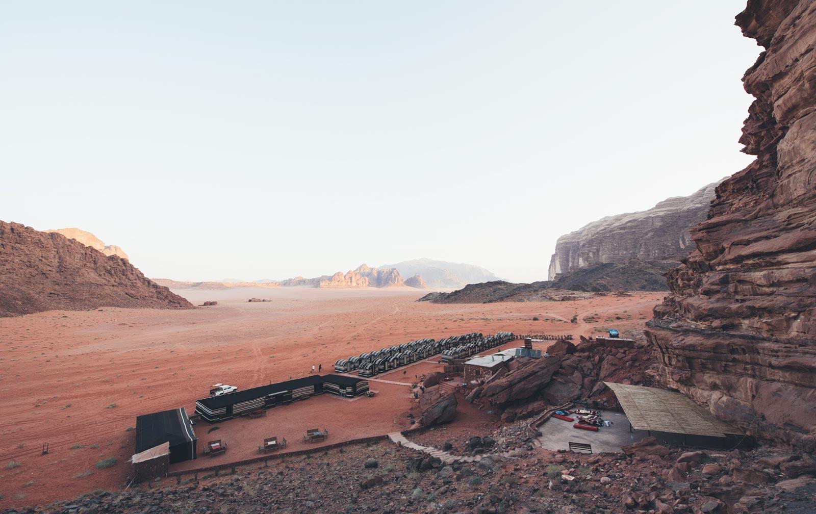 wadi rum caravan camp jordanie