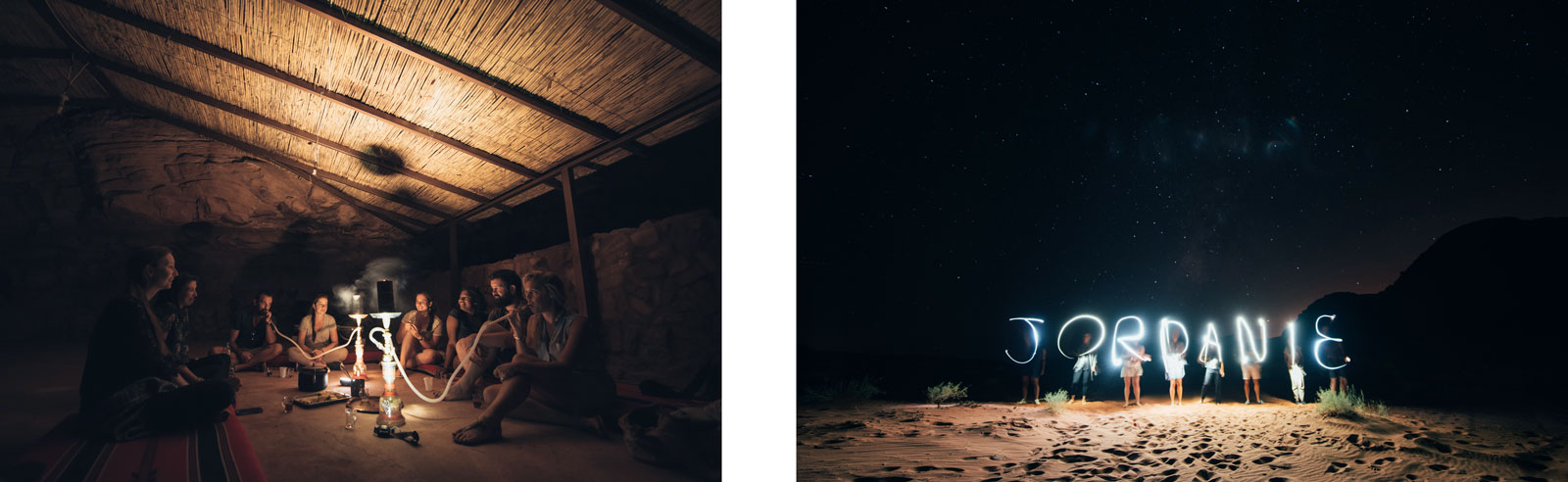 nuit désert jordanie