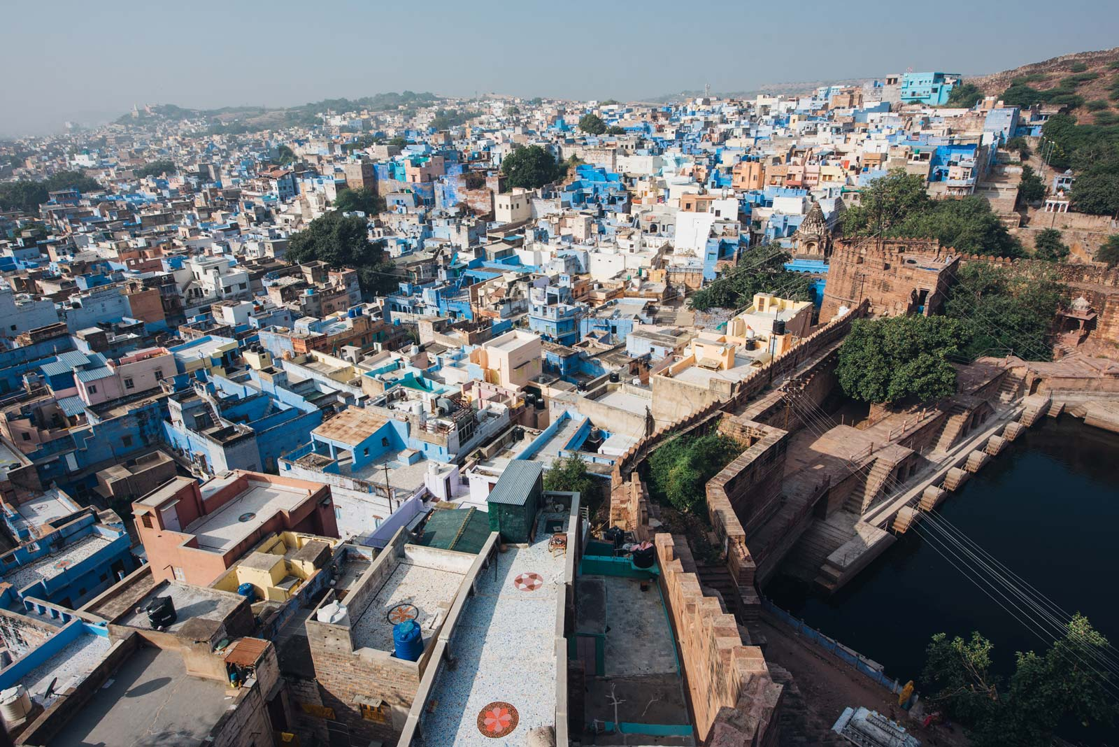 vue depuis le fort de jodhpur inde