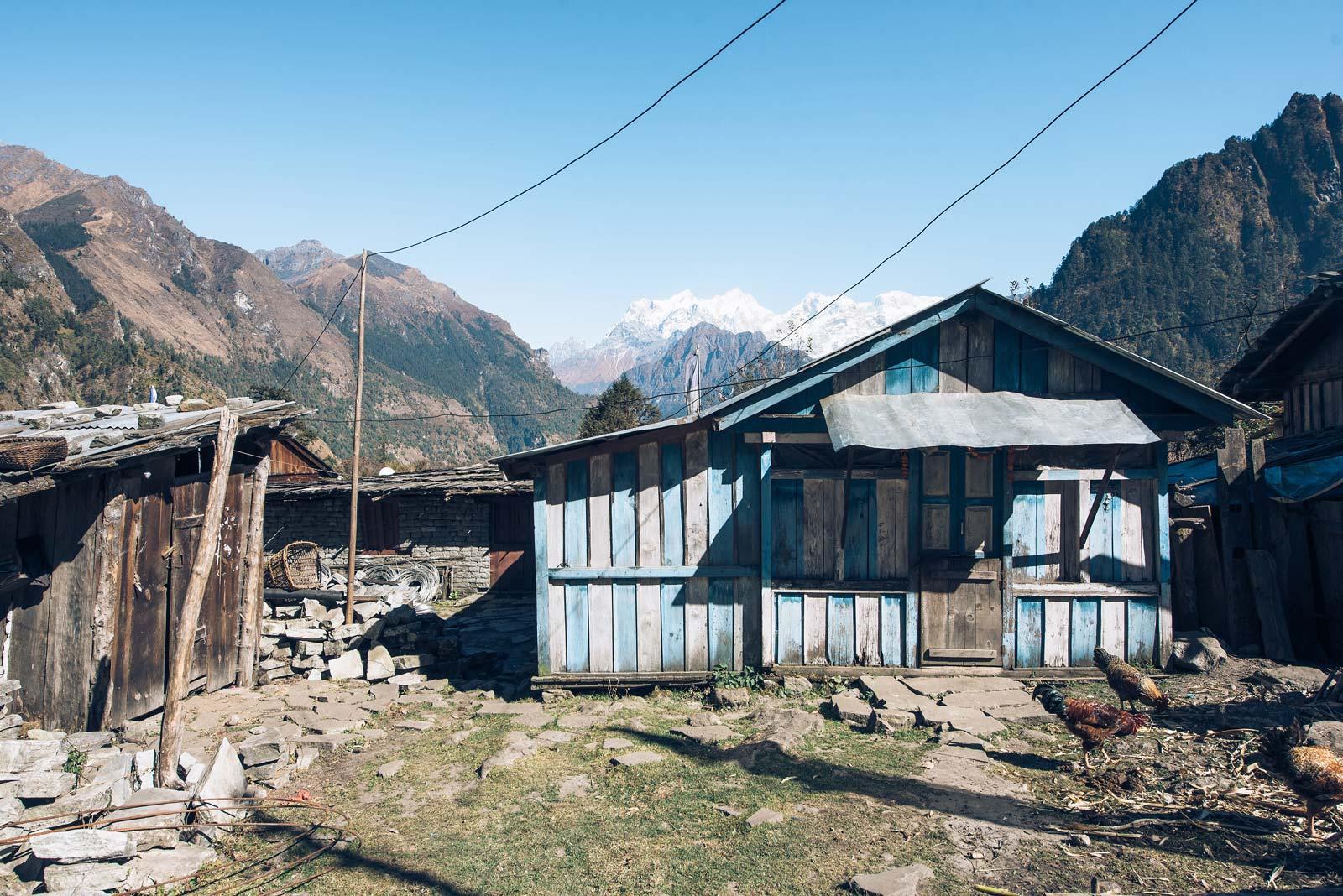 lodge népal sur le trek des annapurnas