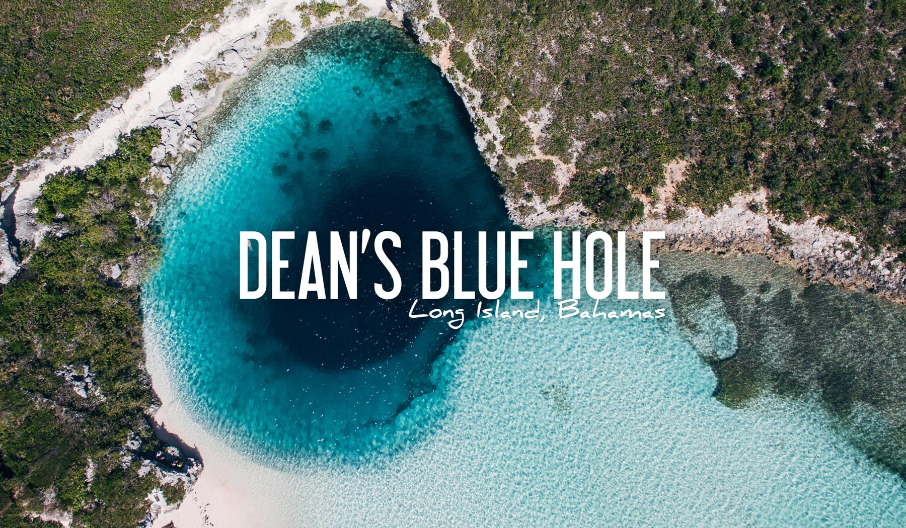 Bahamas deans blue hole long island