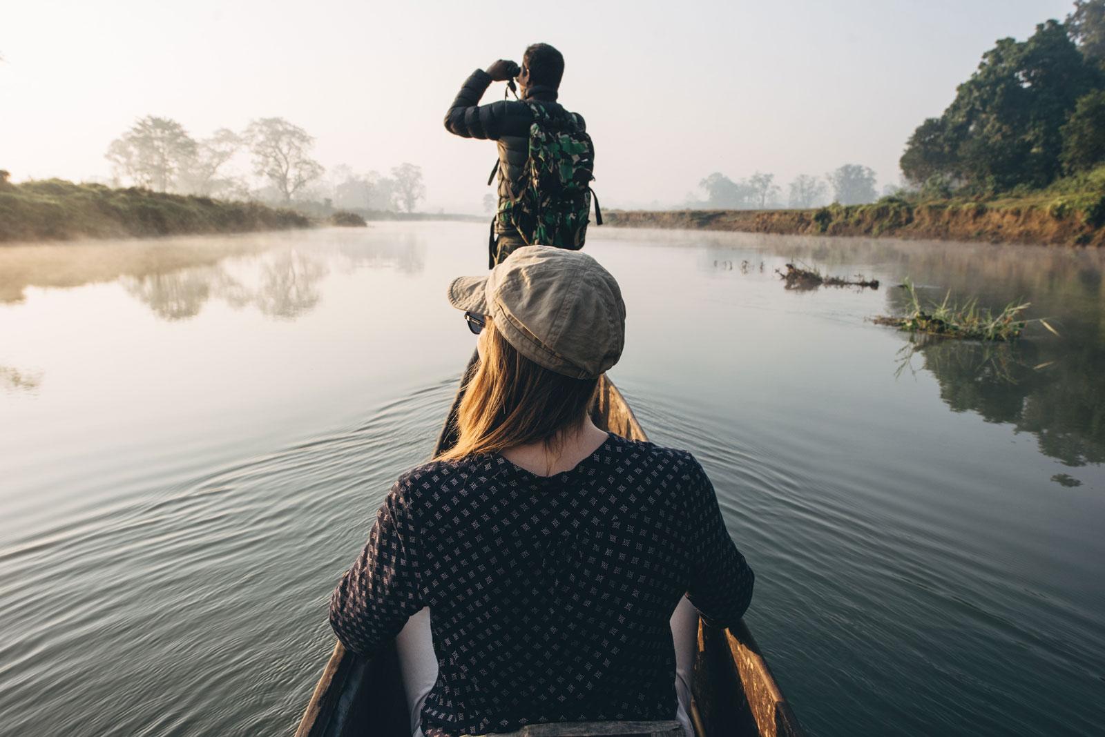 sortie canoe parc de chitwan népal