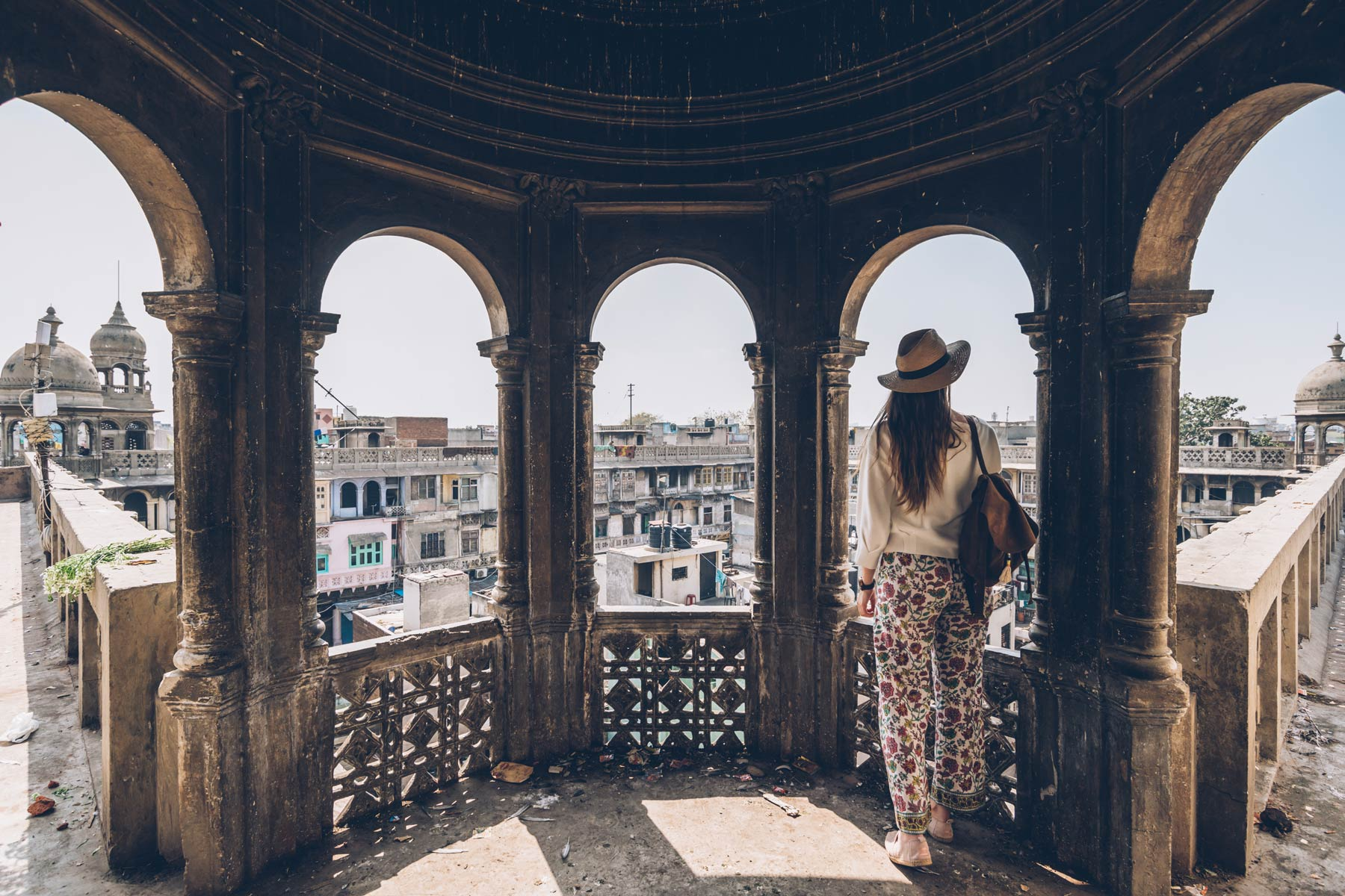Sur les toits du Old Delhi, Inde