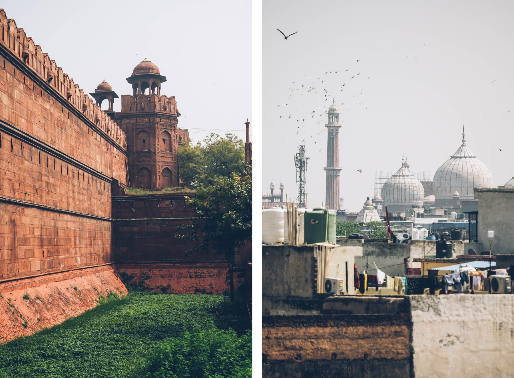 Red Fort et Mosquée Delhi, Inde