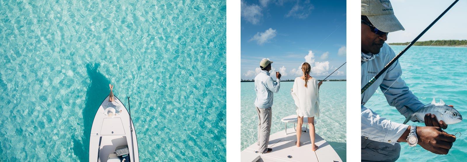Bonefish avec Docky, Long Island, Bahamas