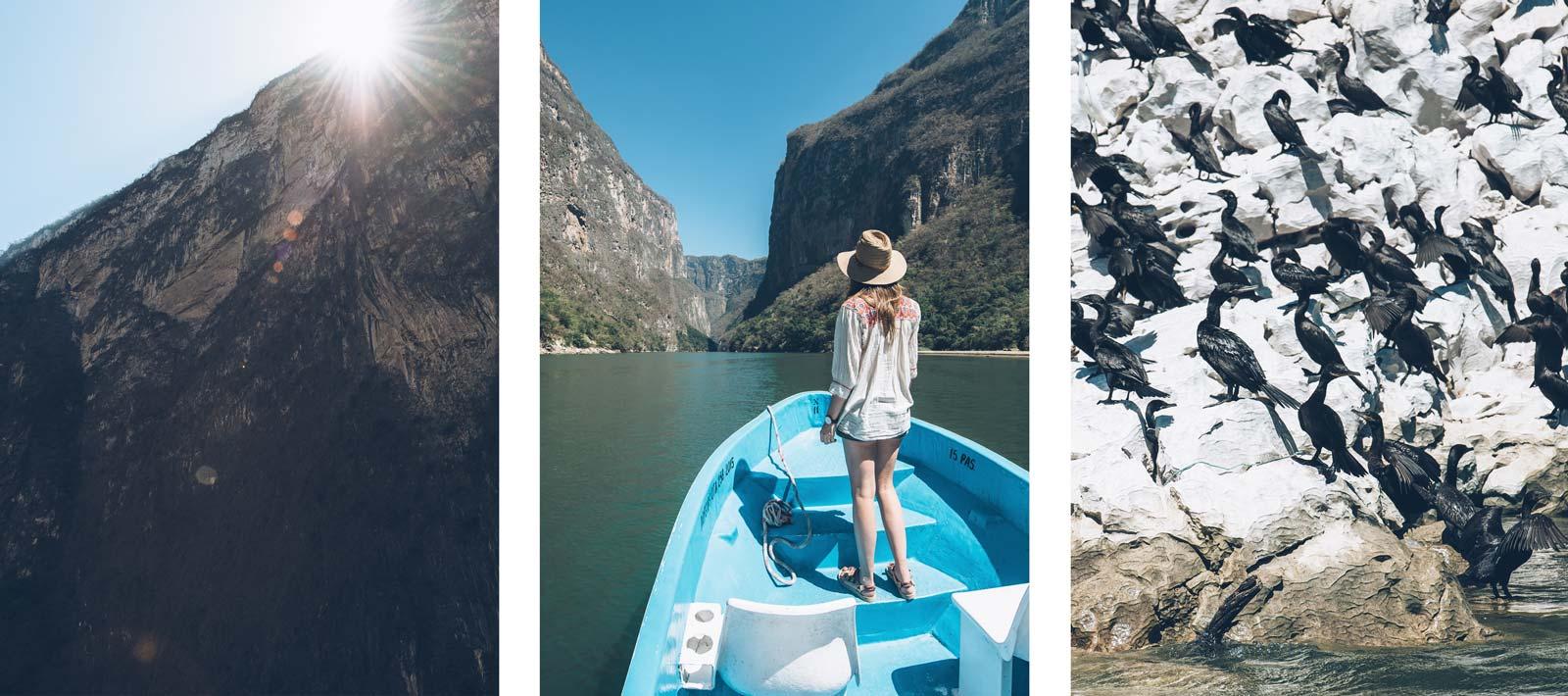 Tour en bateau, Canon del Sumidero, Chiapas, Mexique