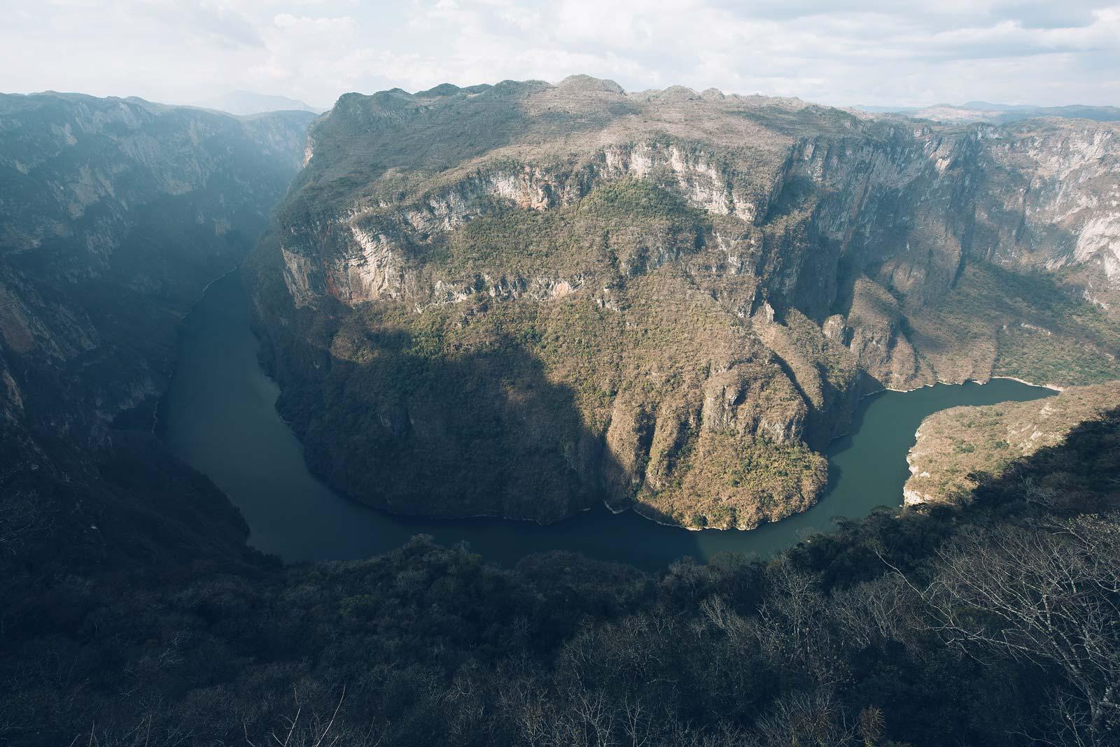 Point de vue, Canon del Sumidero, Chiapas, Mexique