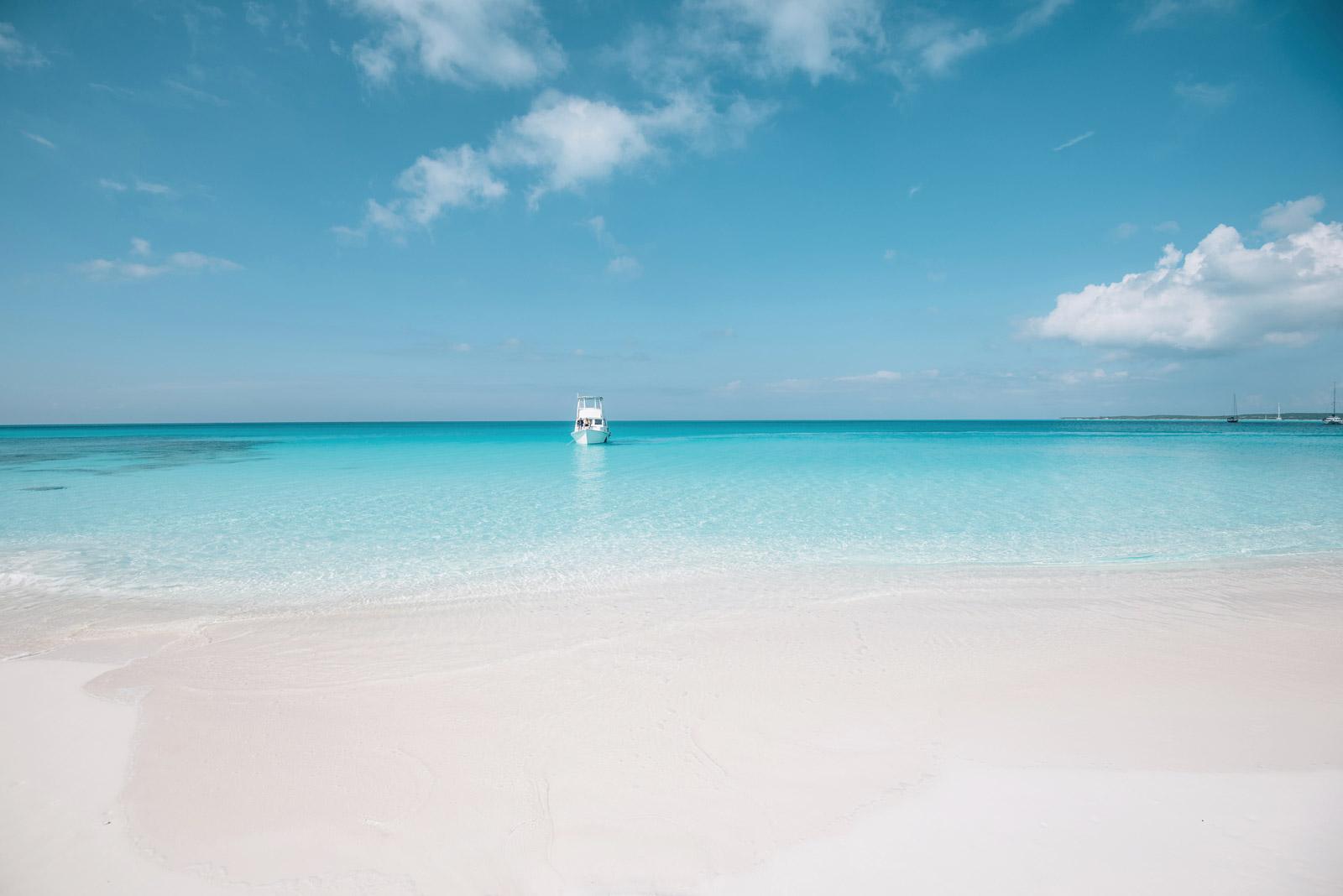 Plage du Cap Santa Maria, une des plus belle du monde, Long Island, Bahamas
