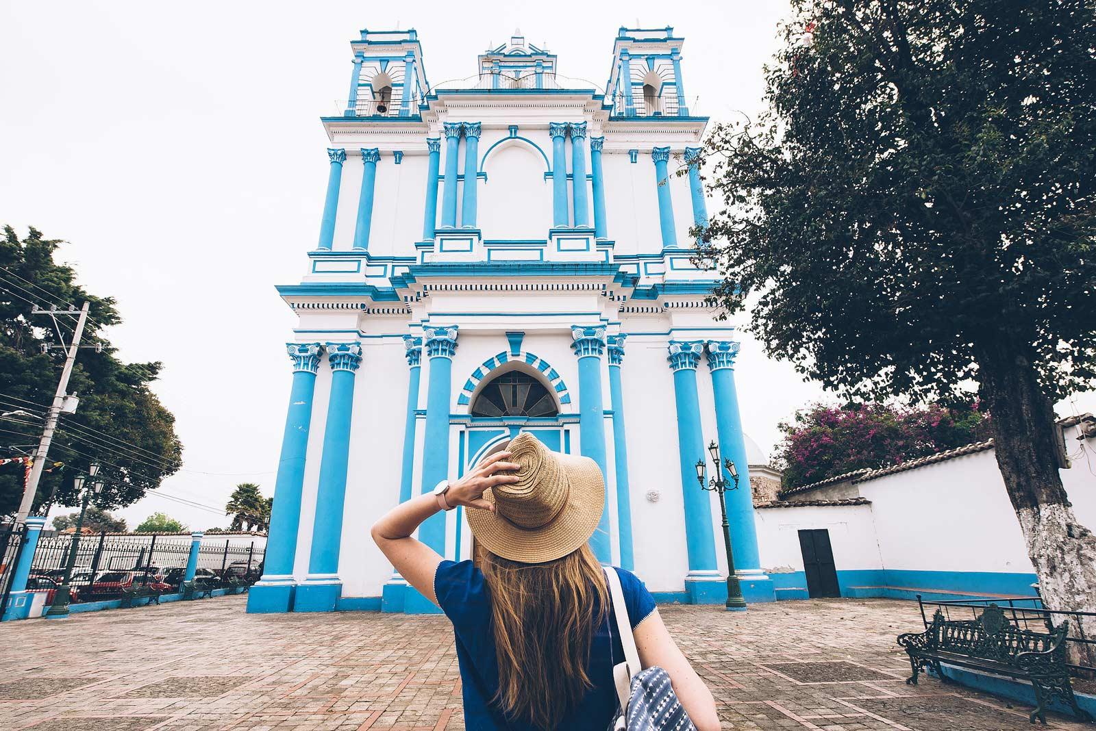 Eglise Bleue, San Cristobal de las Casas, Chiapas, Mexique