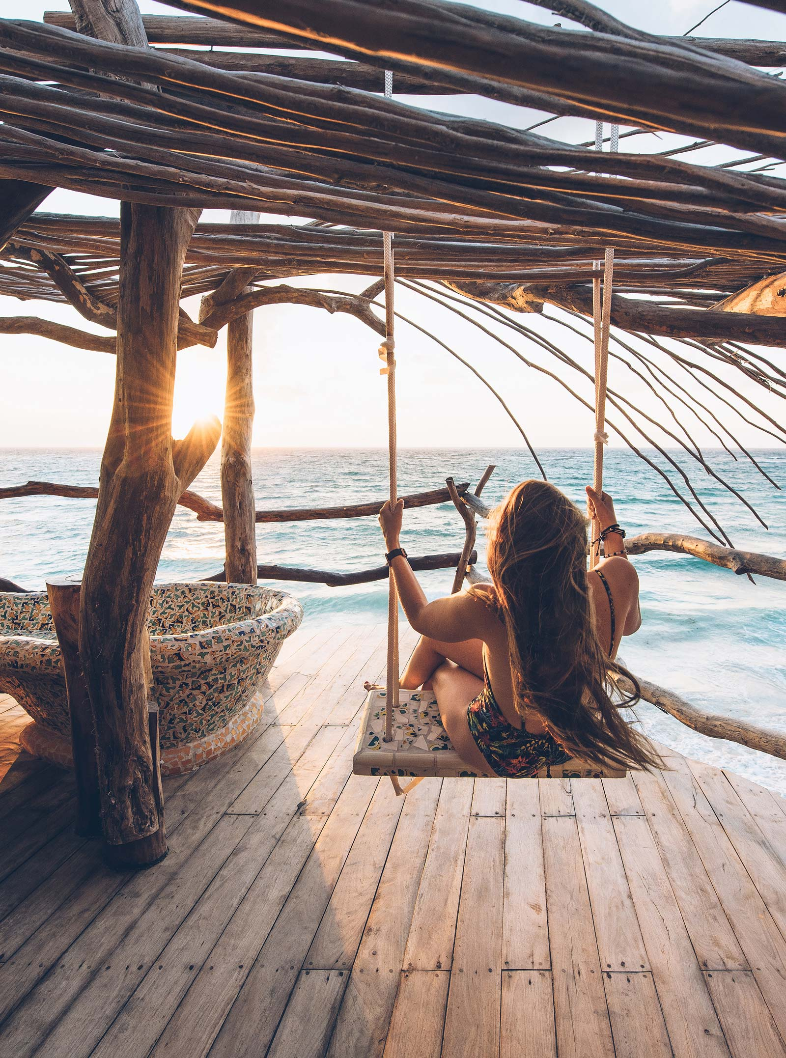 Balançoire avec vue Mer, Azulik, Tulum