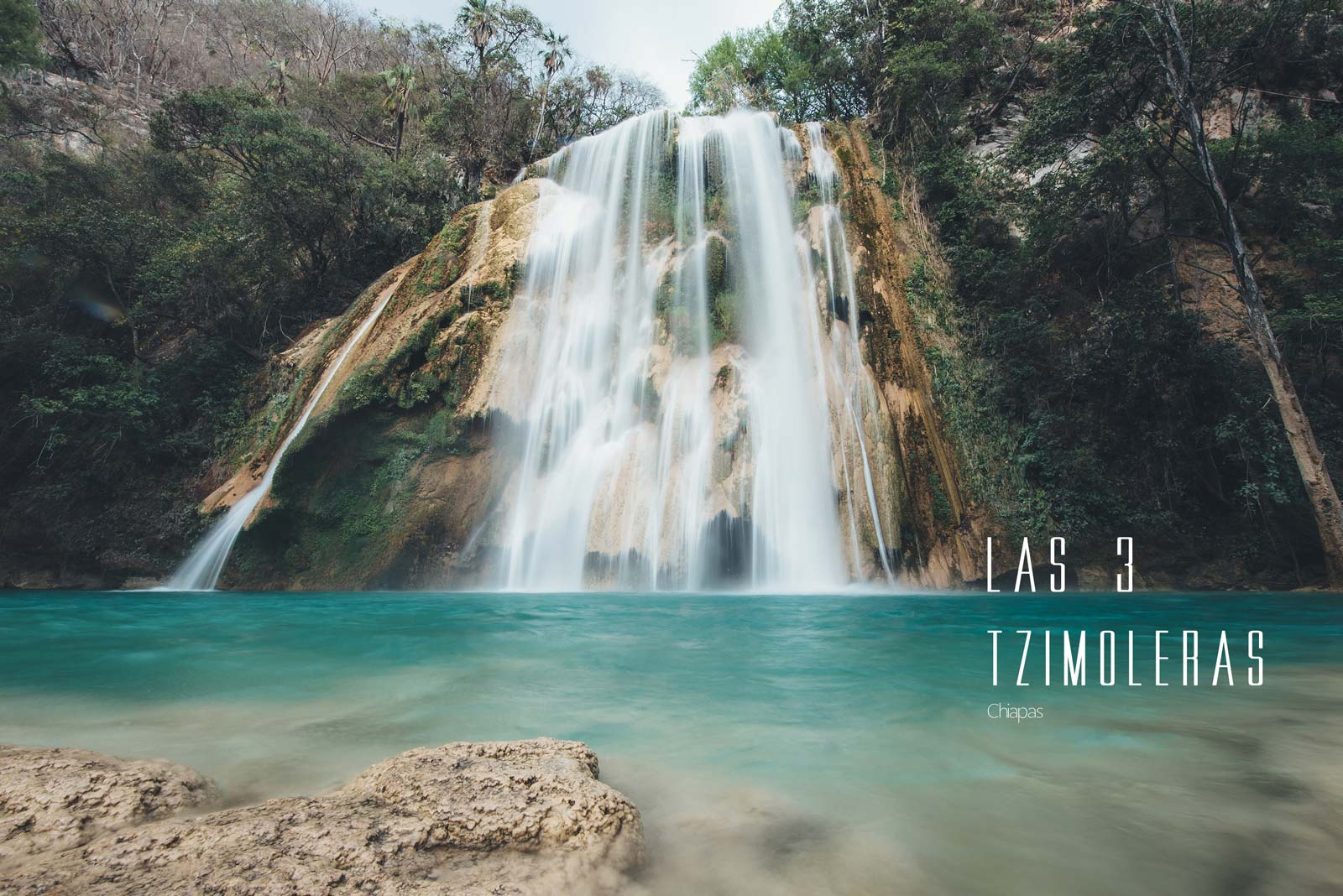 Cascades Las 3 Tzimorelas, Chiapas, Mexique