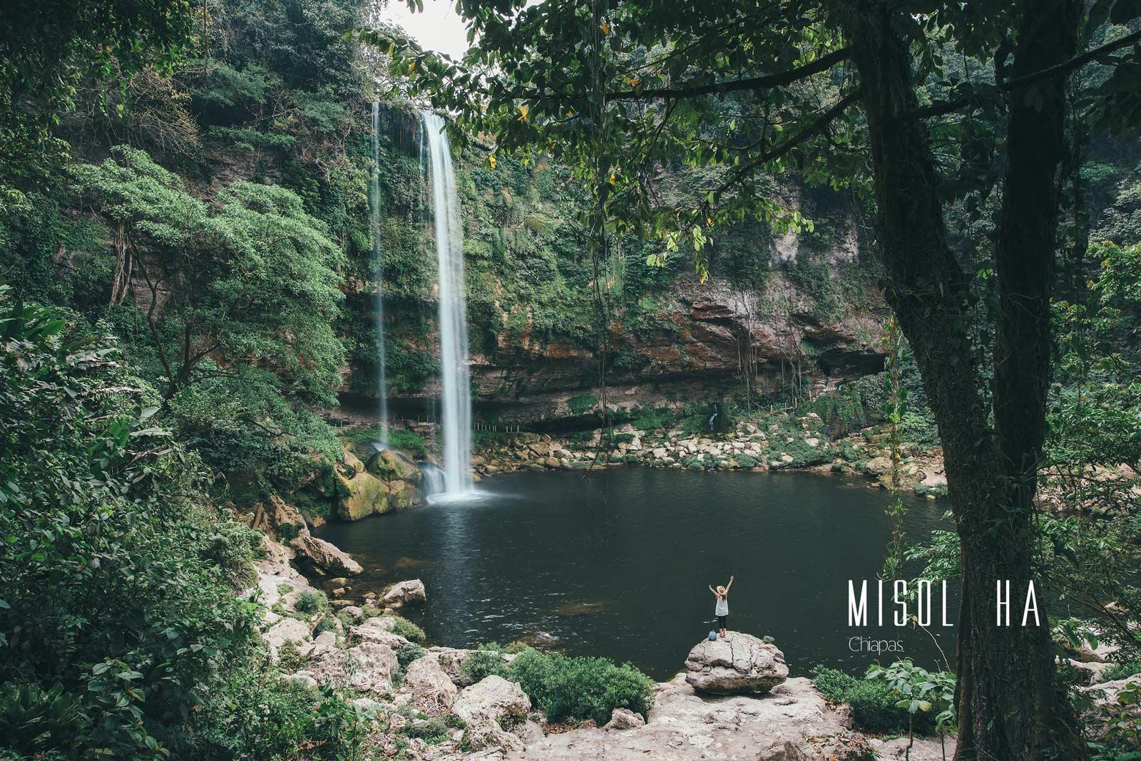 Cascade Misol Ha, Chiapas, Mexique