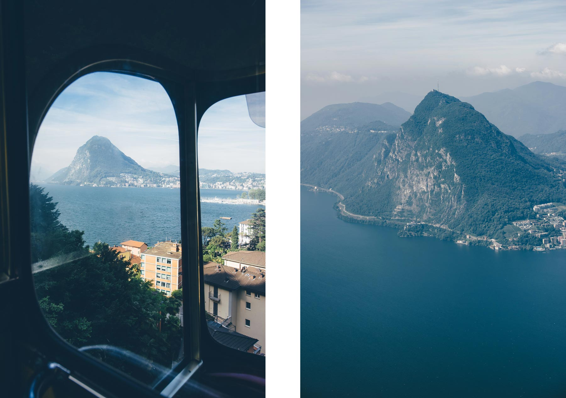 Vue sur San Salvadore depuis Monte Brè, Lugano, Suisse