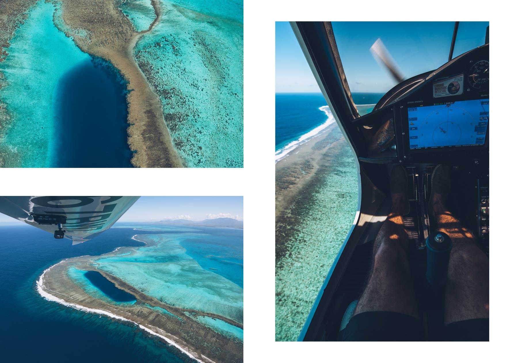 Vol Scénique en ULM, Le Trou Bleu, Nouvelle Caledonie