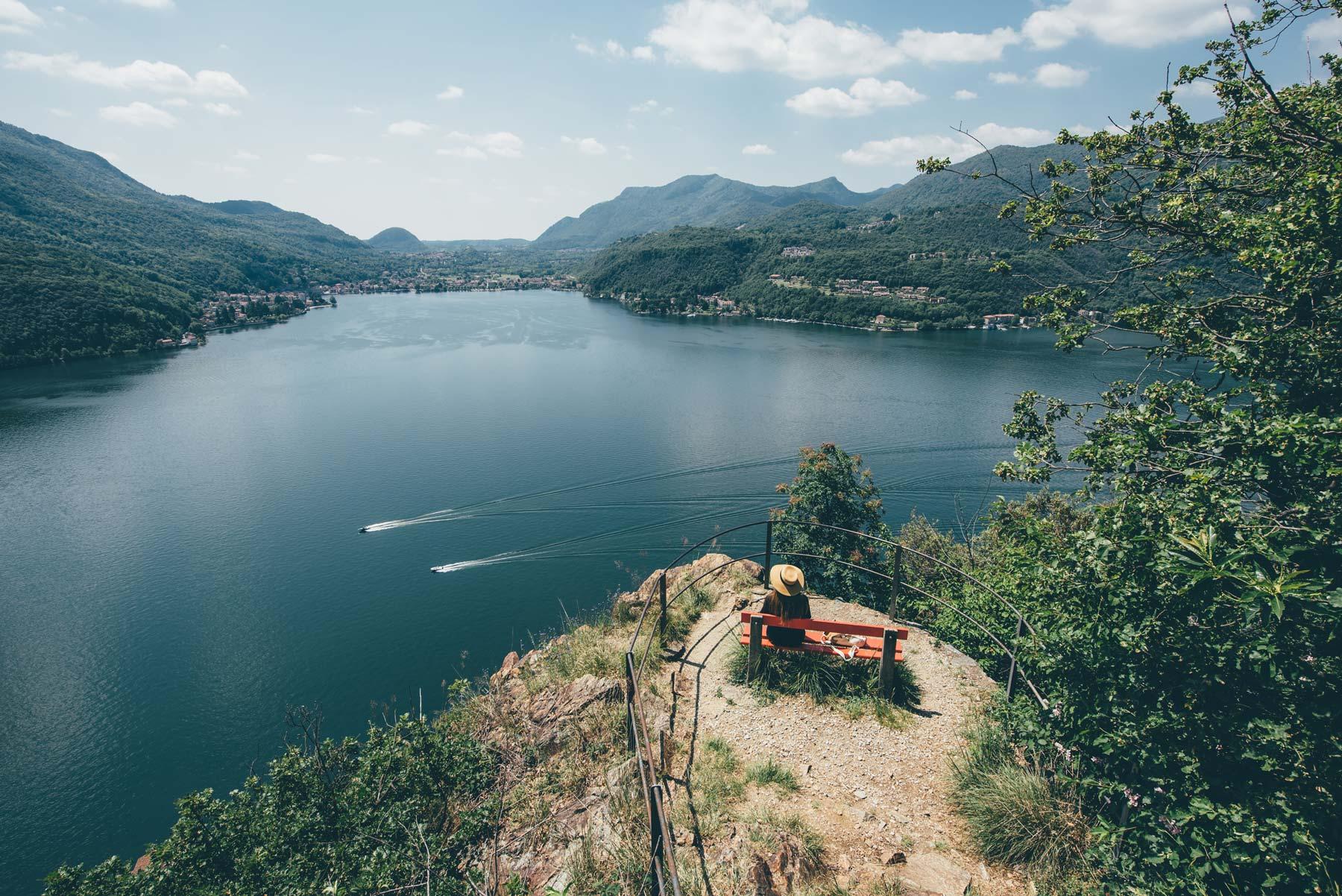 Panorama depuis Morcote, Suisse