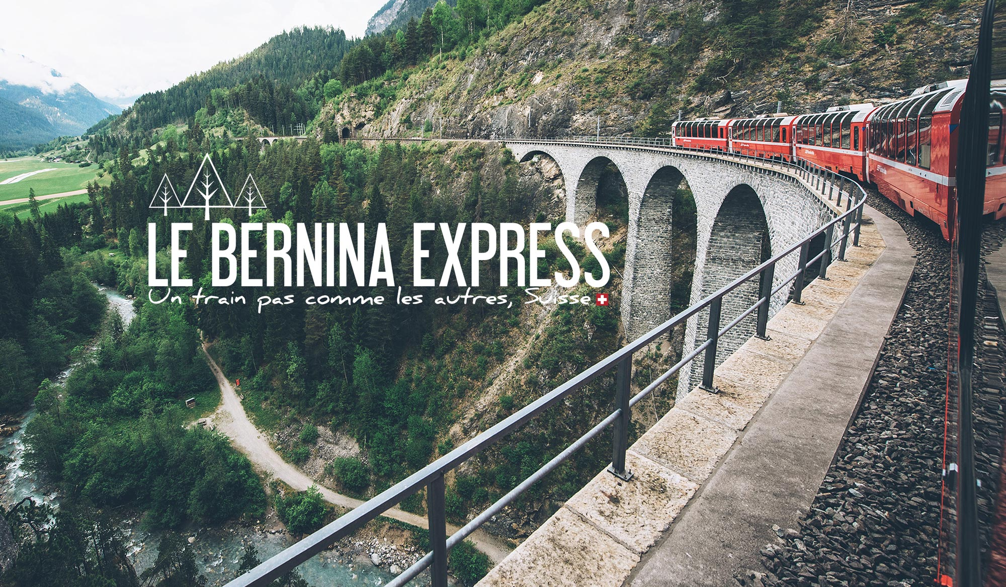 Bernina Express, train panoramique, Suisse