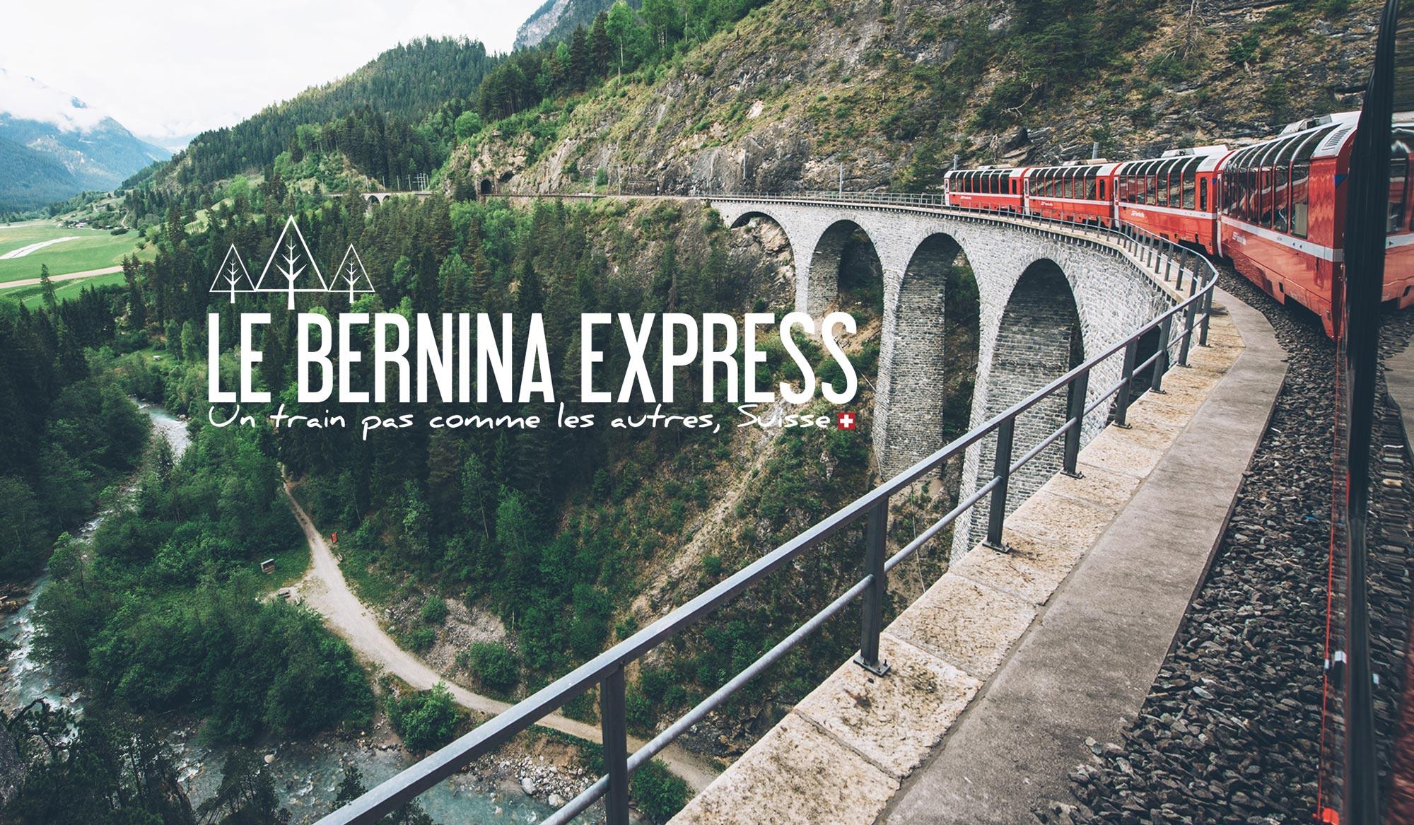 Bernina Express, train panoramique, Suisse