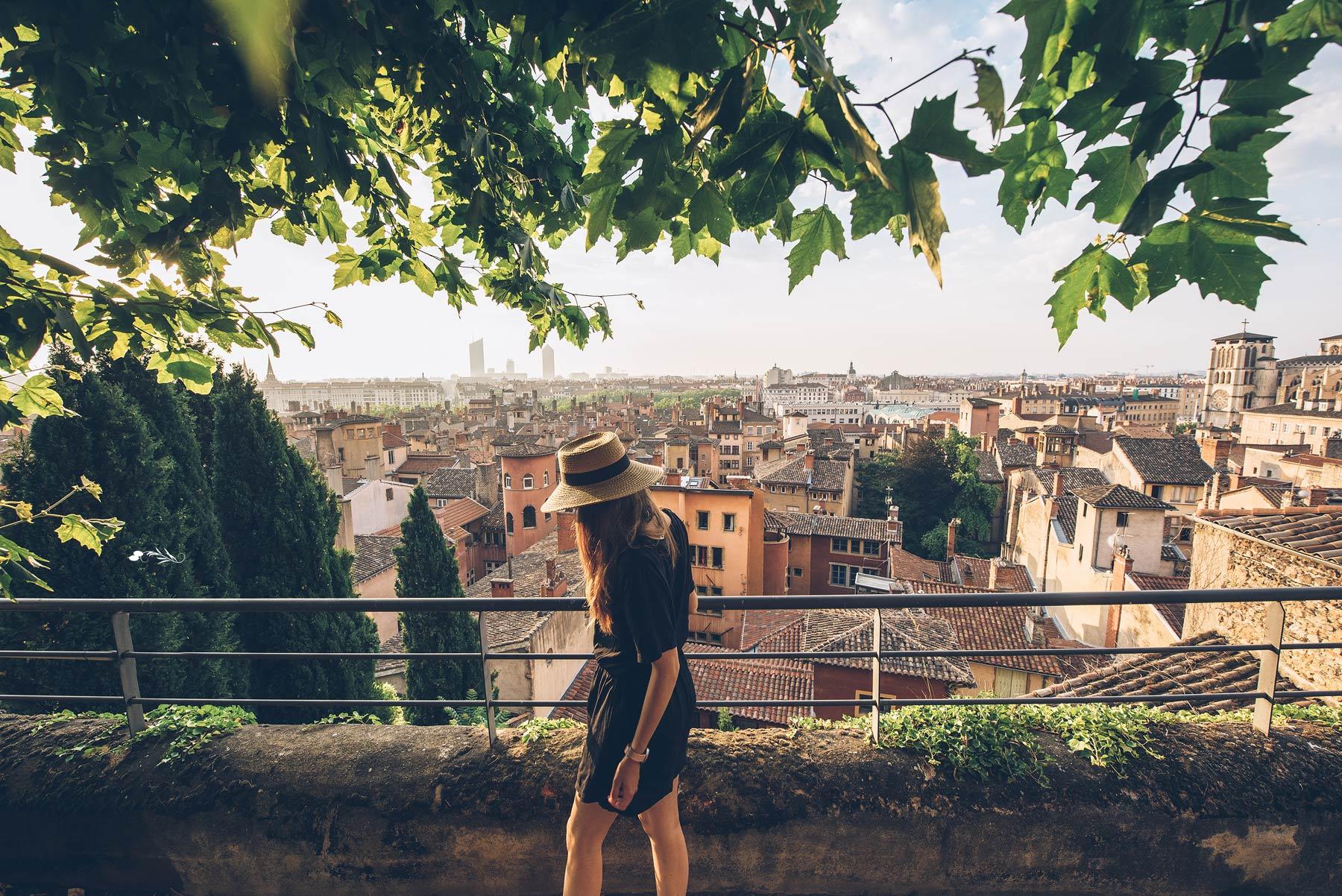 Vue sur les toits du vieux Lyon, Villa Florentine