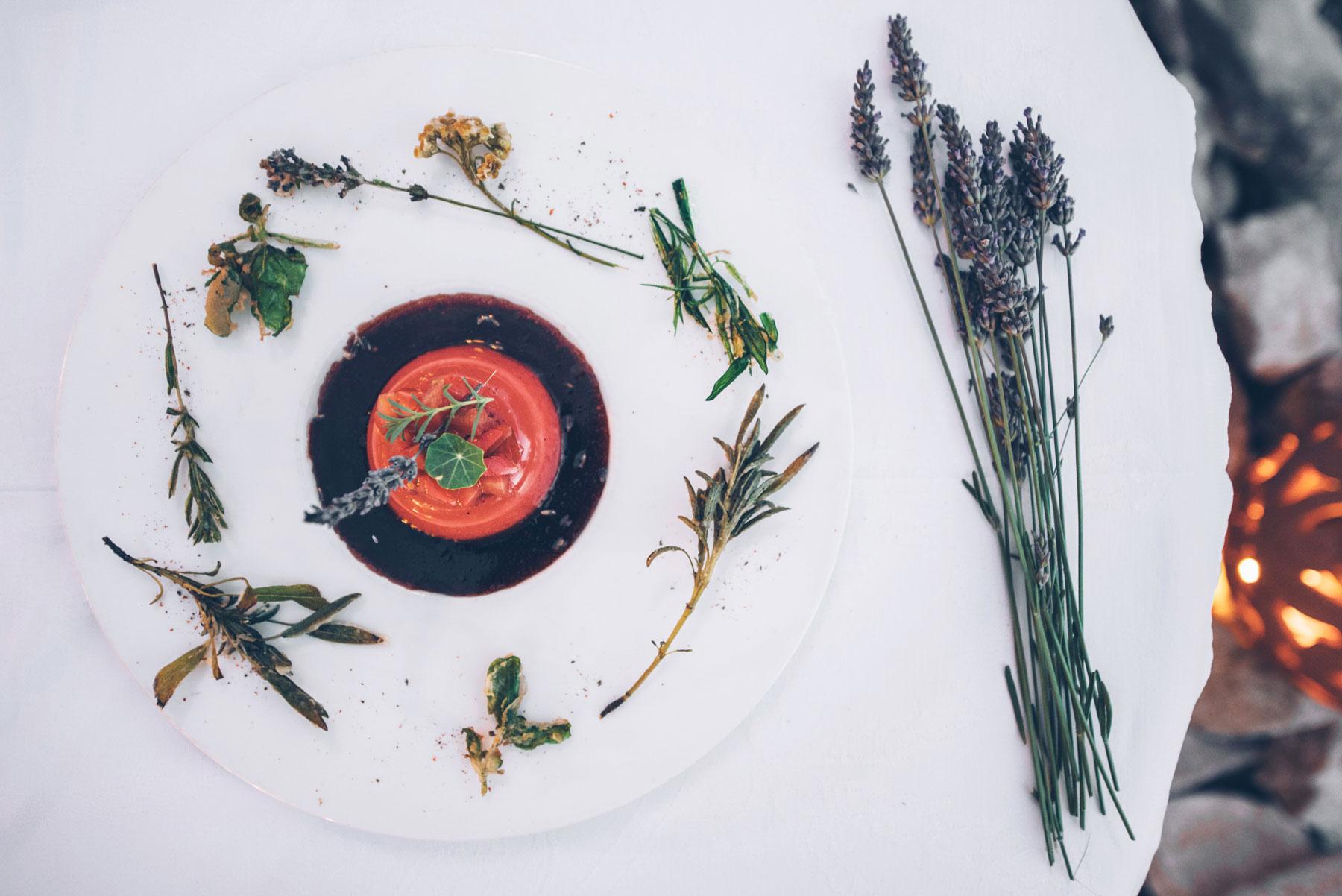 Menu Lavande, Restaurant le Regain, Sault