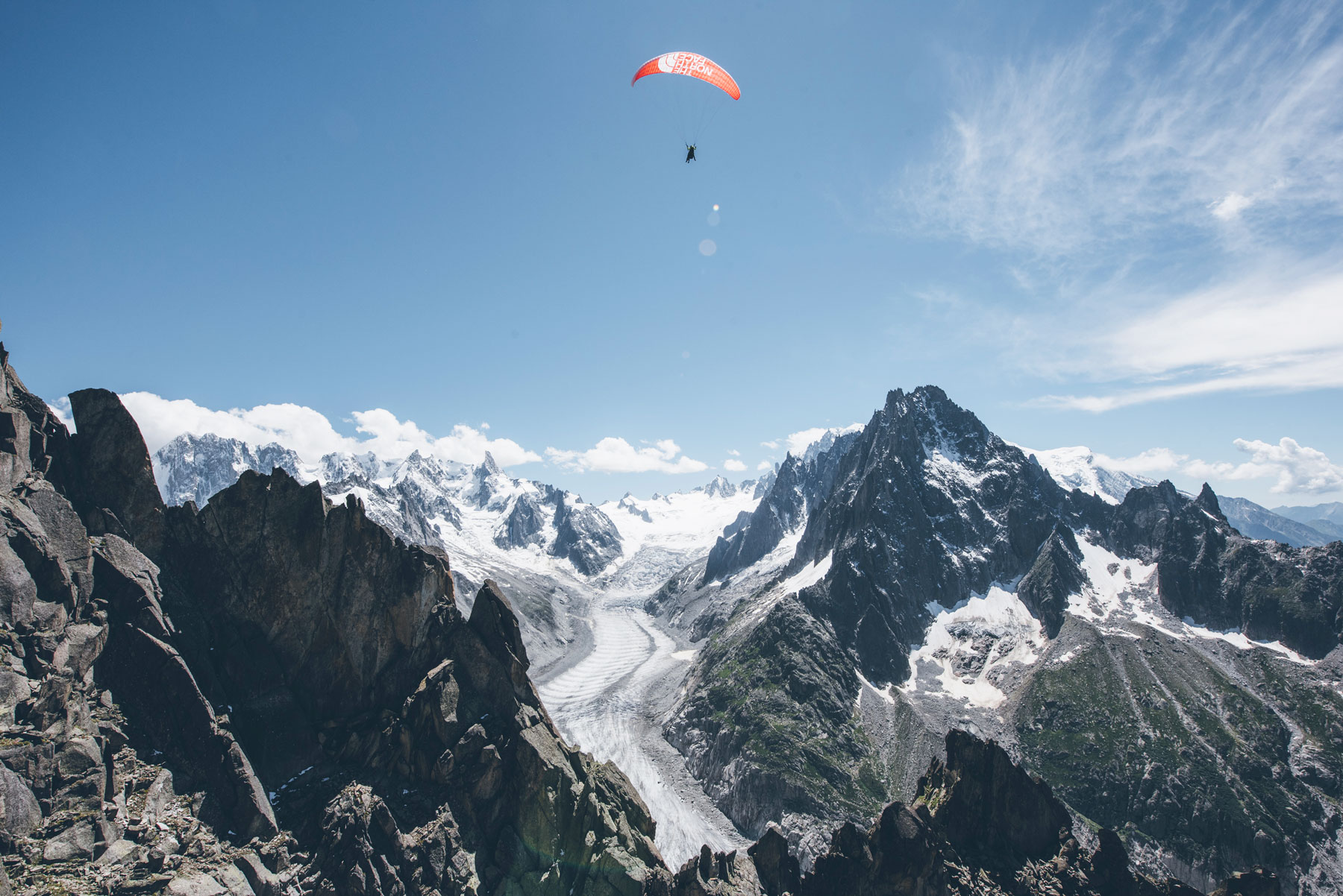 Kailash parapente, The North Face, Chamonix