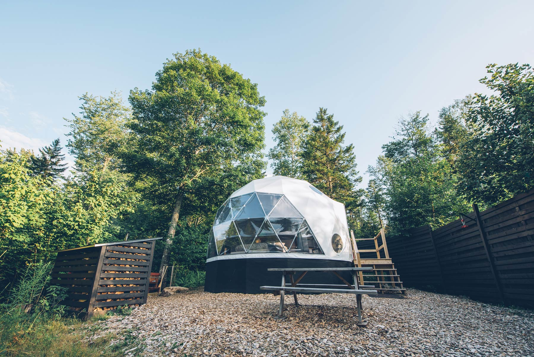 Dormir dans une bulle au Canada: Ridgeback Lodge