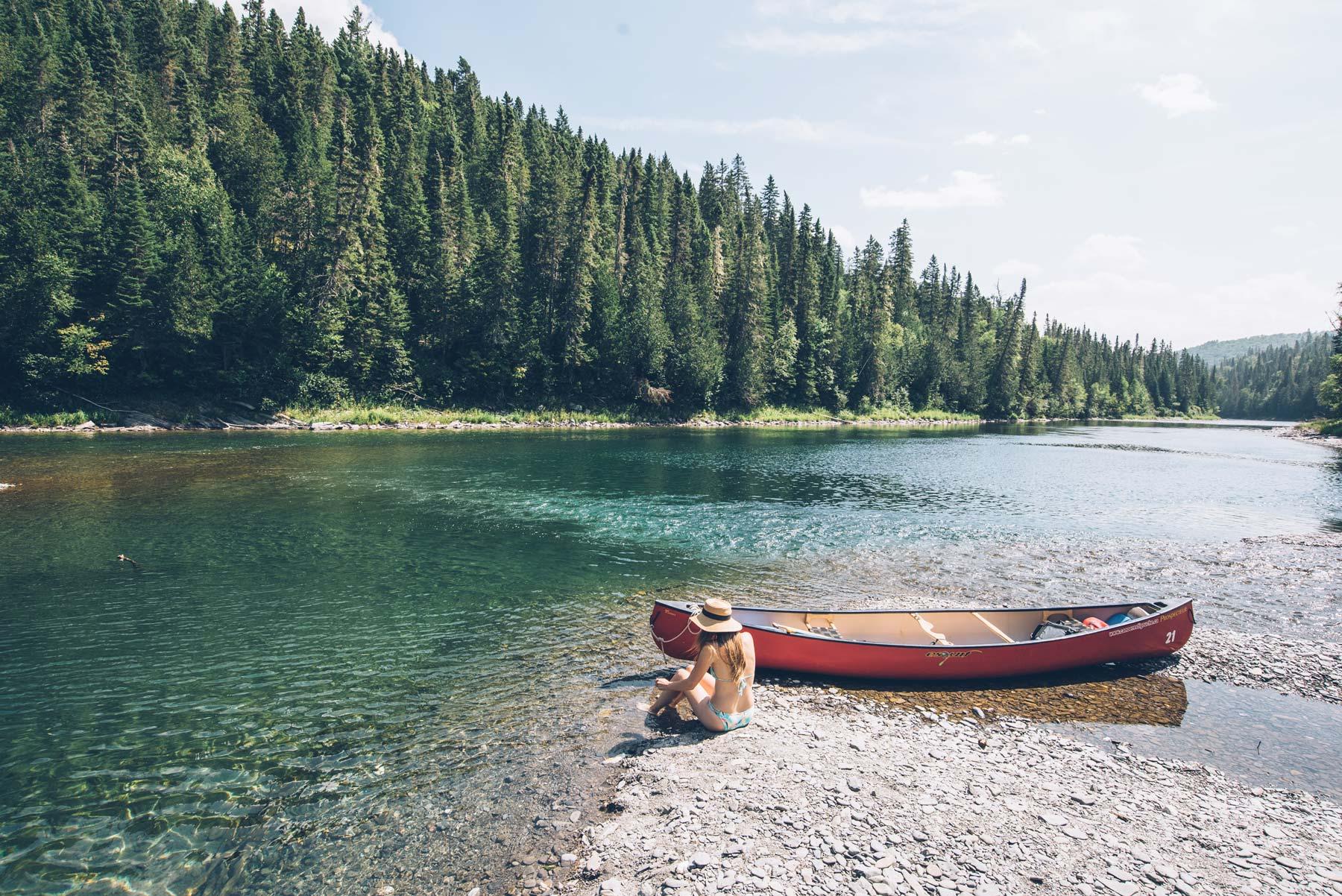 Canotage sur la rivière Kedgwick , Canada