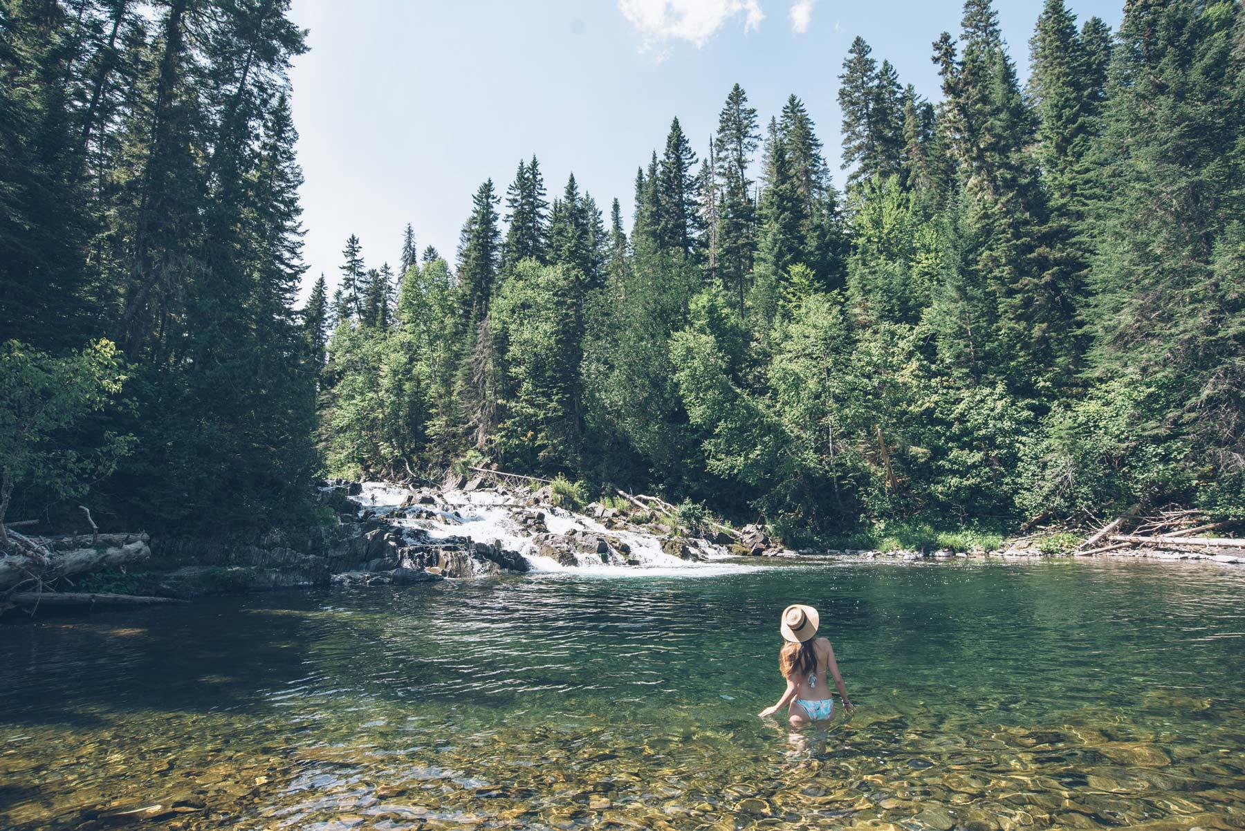 Falls Brook, Cascade au Nouveau Brunswick