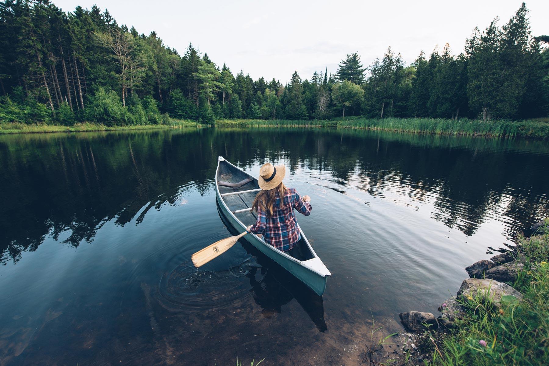 Canoe au Canada, Ridgeback Lodge, Nouveau Brunswick