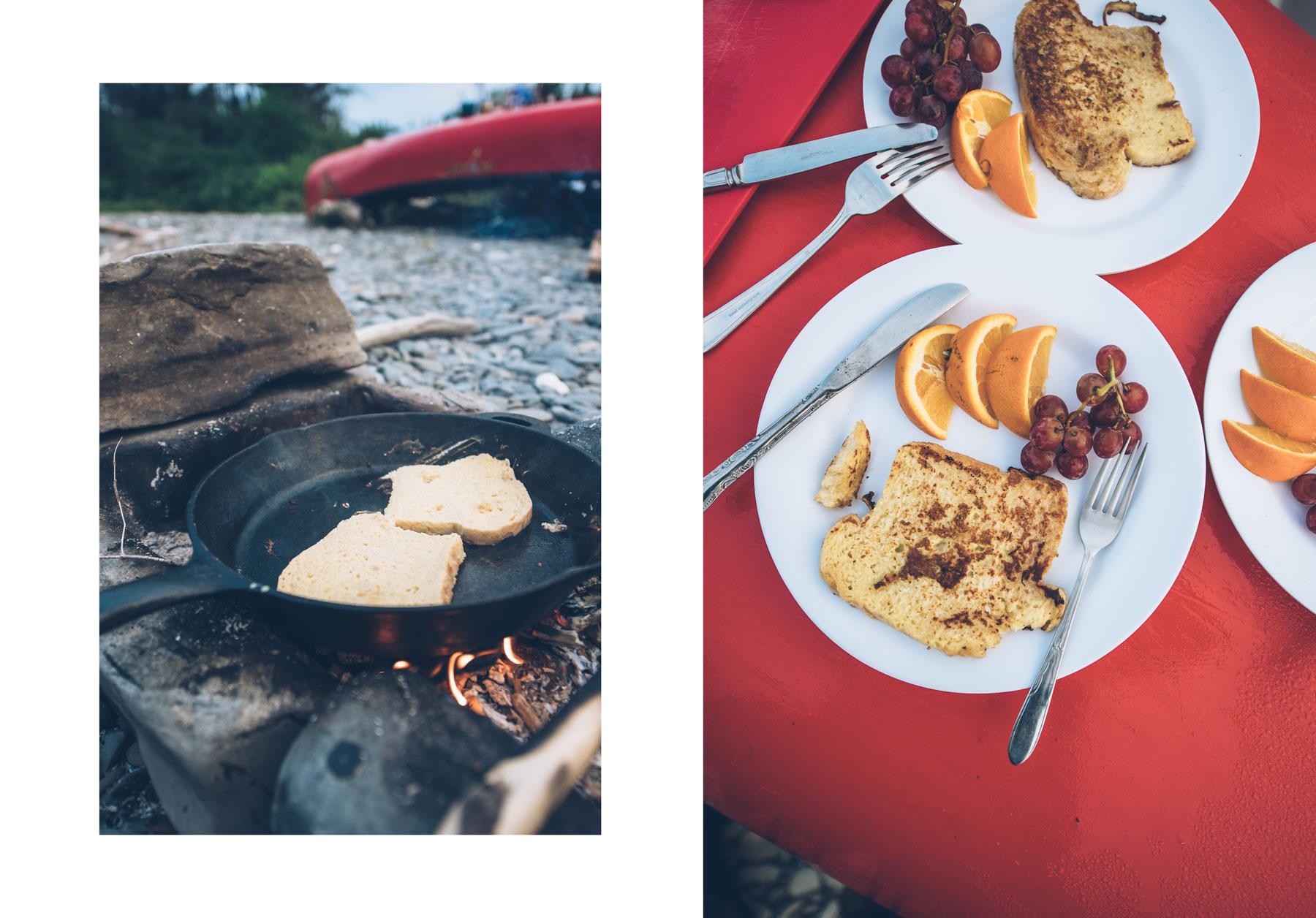 Petit Déjeuner, Canoë Arpin, Restigouche