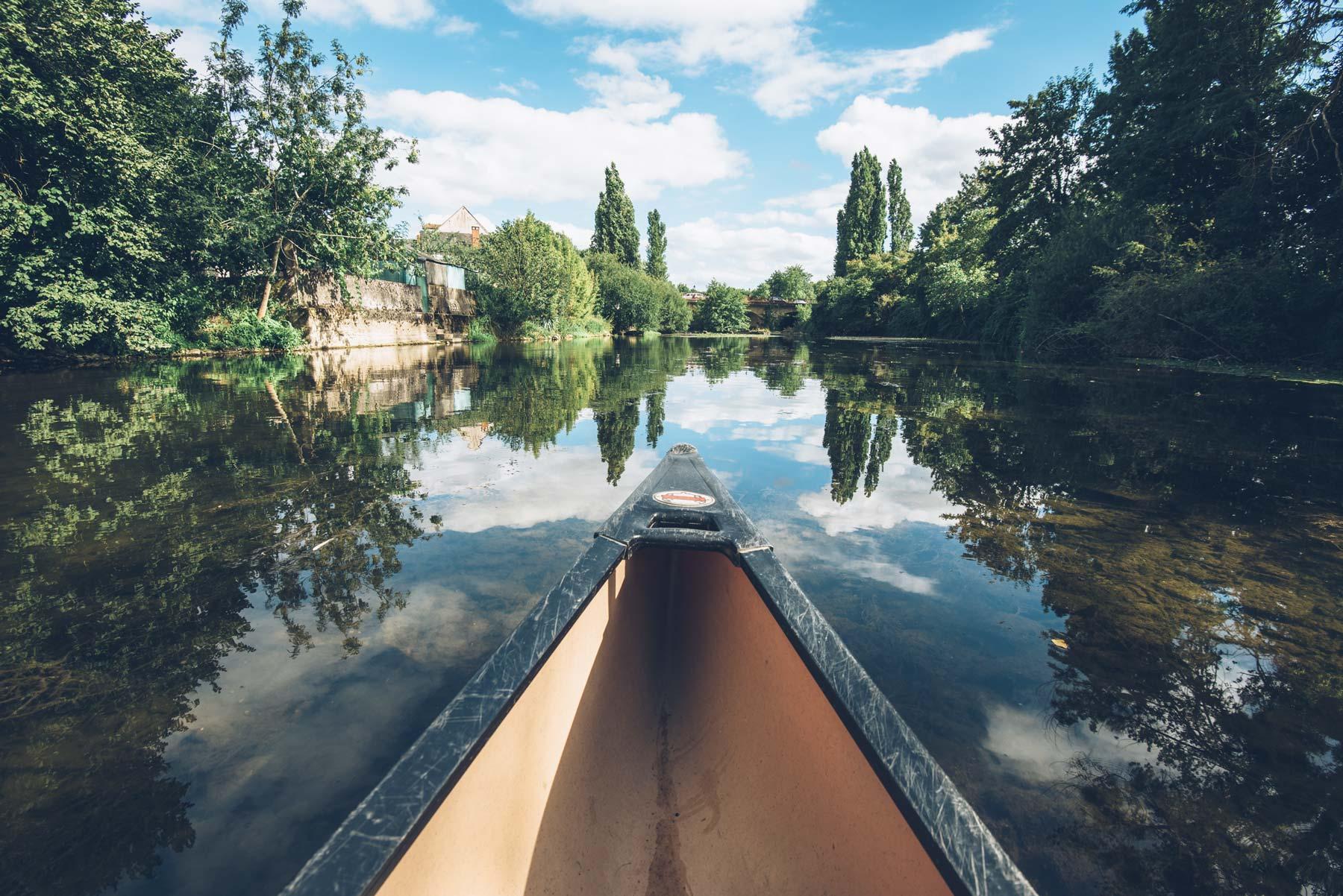 Canoe sur l'Indre, Châteauroux