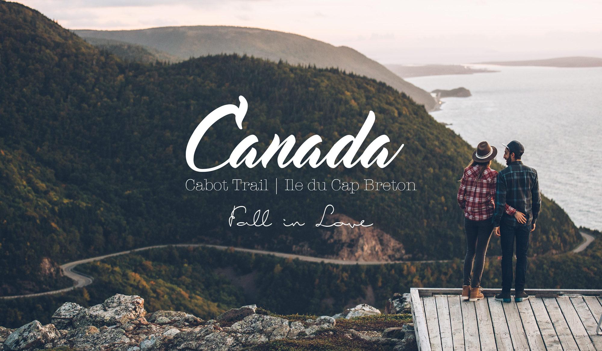 Piste Cabot Trail, Ile du Cap breton, Canada