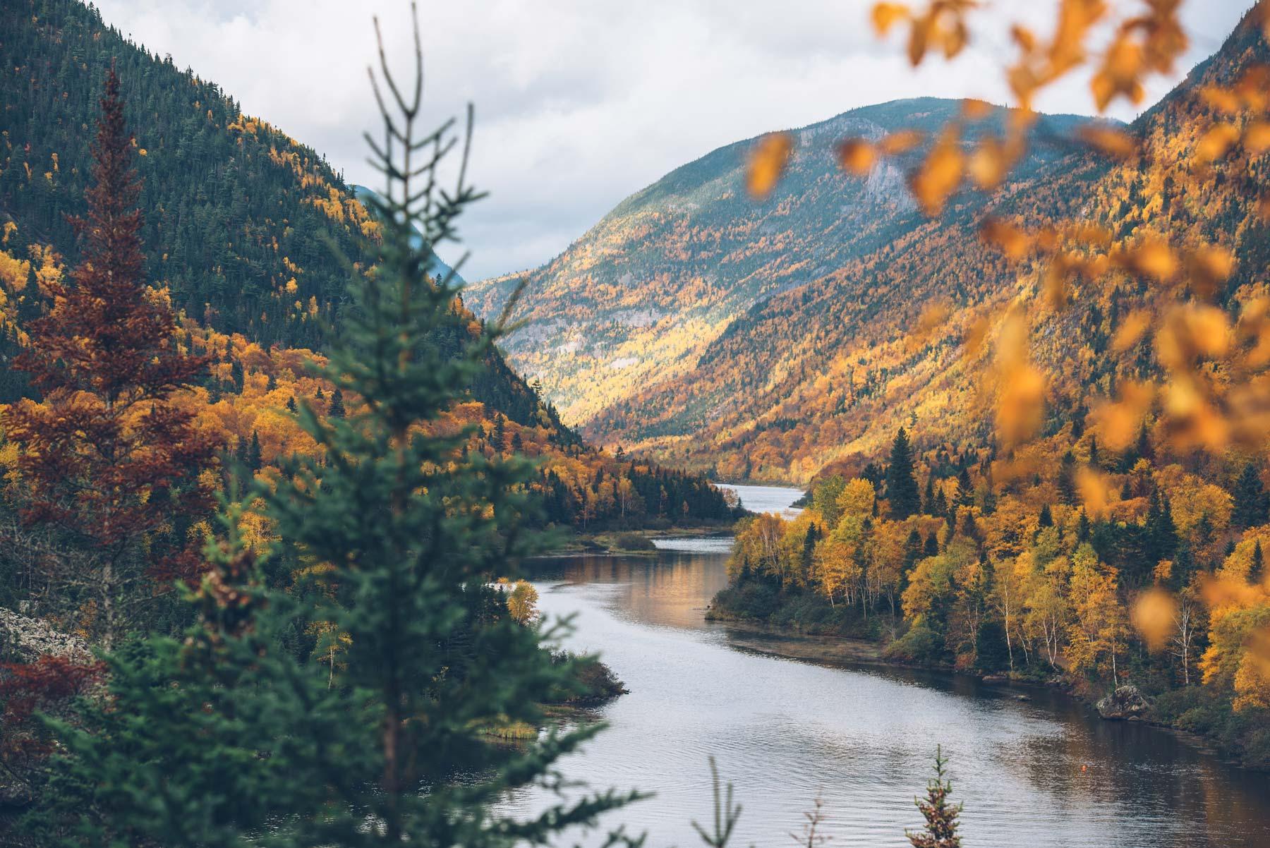 Automne au Québec: Parc des Hautes Gorges
