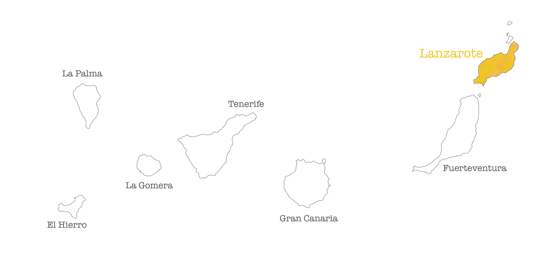 Carte Canaries - Lanzarote