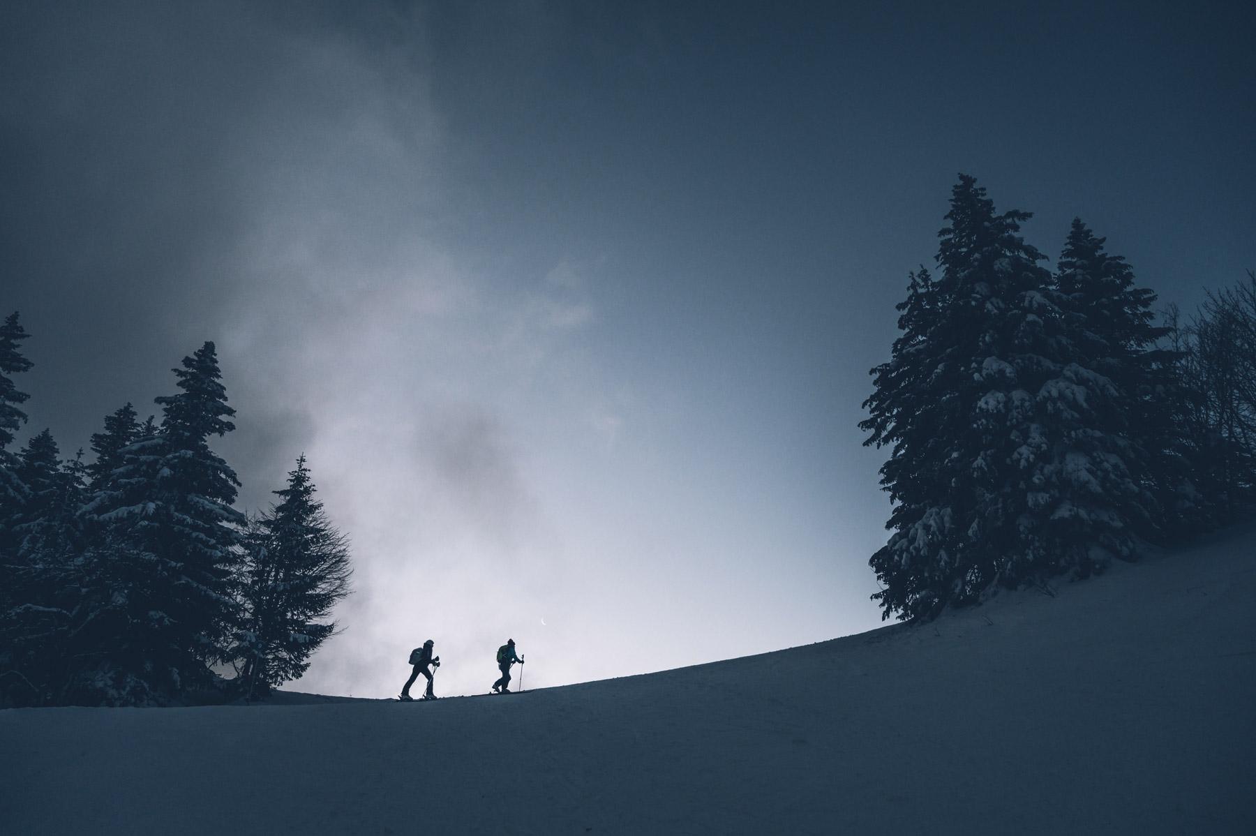 Ski de rando, col de la Faucille