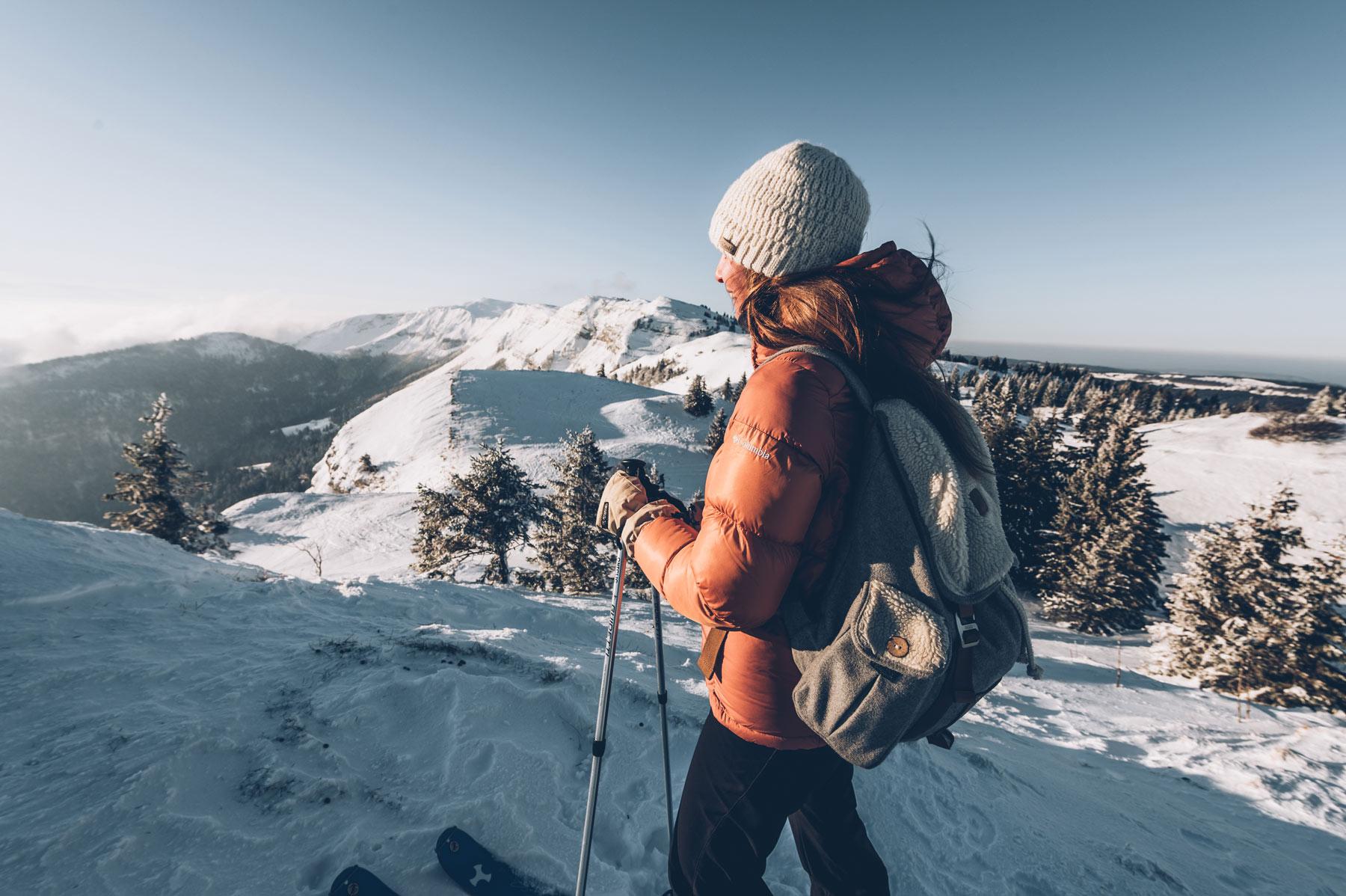 Massif du Jura, Vue en ski de rando