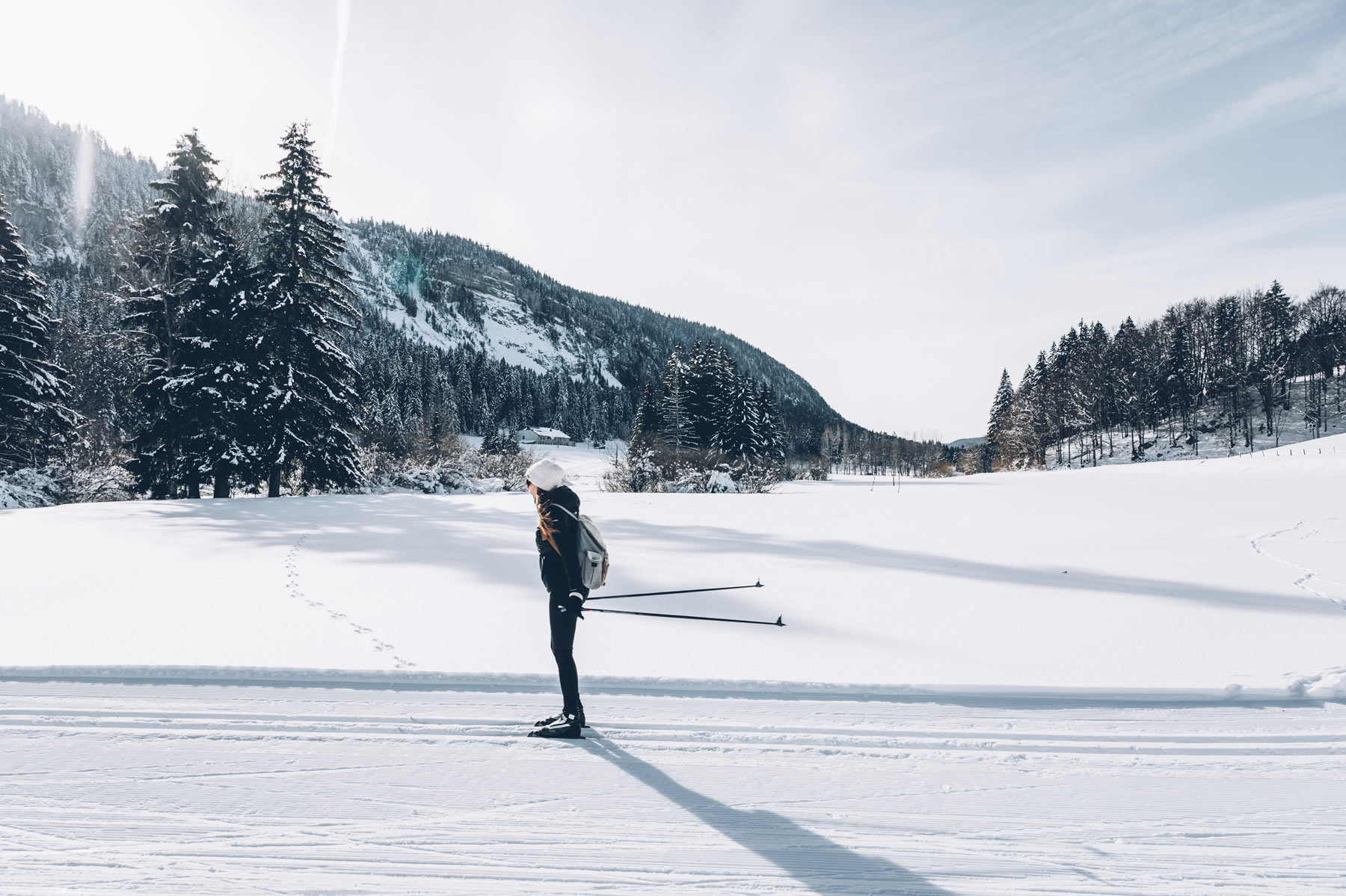 Ski de fond à Mijoux Golf
